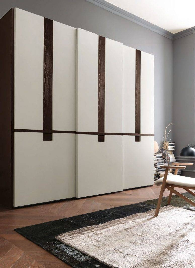Wardrobe Designs Photos Slanted Ceiling Sliding Doors Tufted in Dark Wood Wardrobe Sliding Doors (Image 28 of 30)