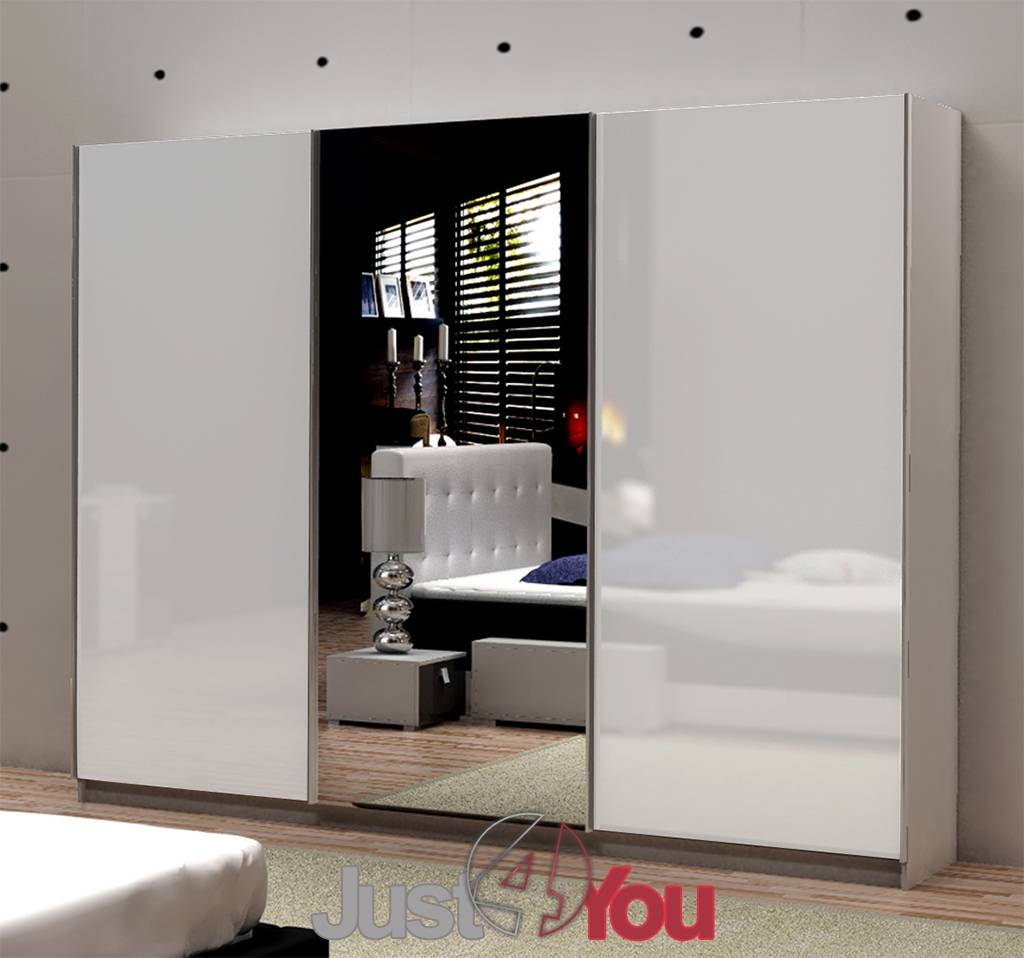 Photos Of White Gloss Mirrored Wardrobes Showing 5 Of 15 Photos