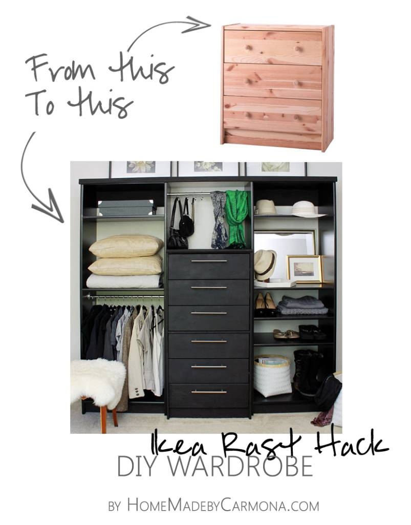 Wardrobe Hack in Wardrobe With Drawers and Shelves (Image 23 of 30)