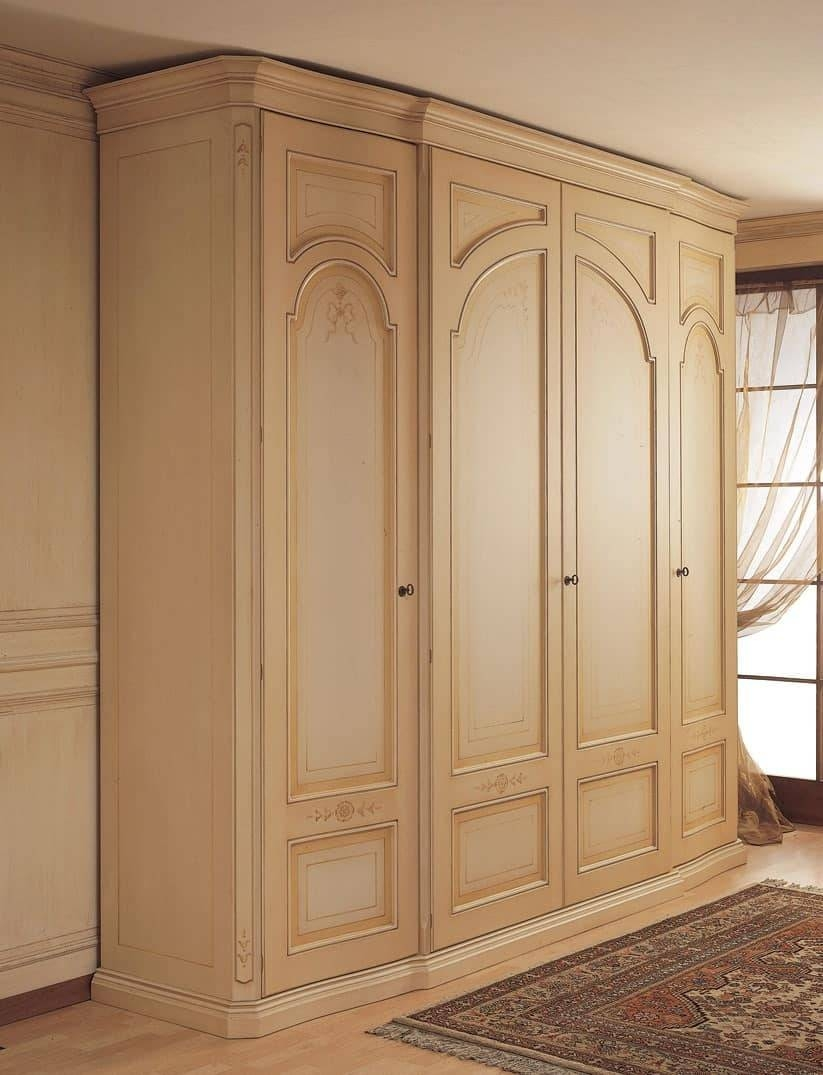 Wardrobe With Curved Side Doors, For Classical Bedroom | Idfdesign regarding Curved Wardrobe Doors (Image 26 of 30)