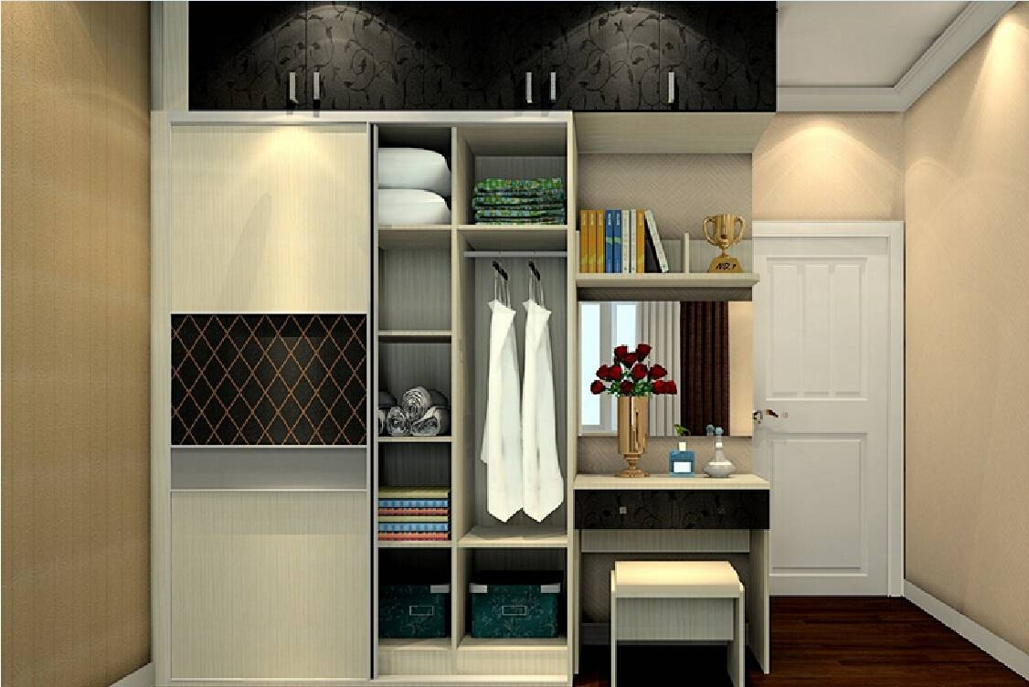 Wardrobe With Dressing Table. More Views. Antijump Sliding with regard to Wardrobes And Dressing Tables (Image 14 of 15)