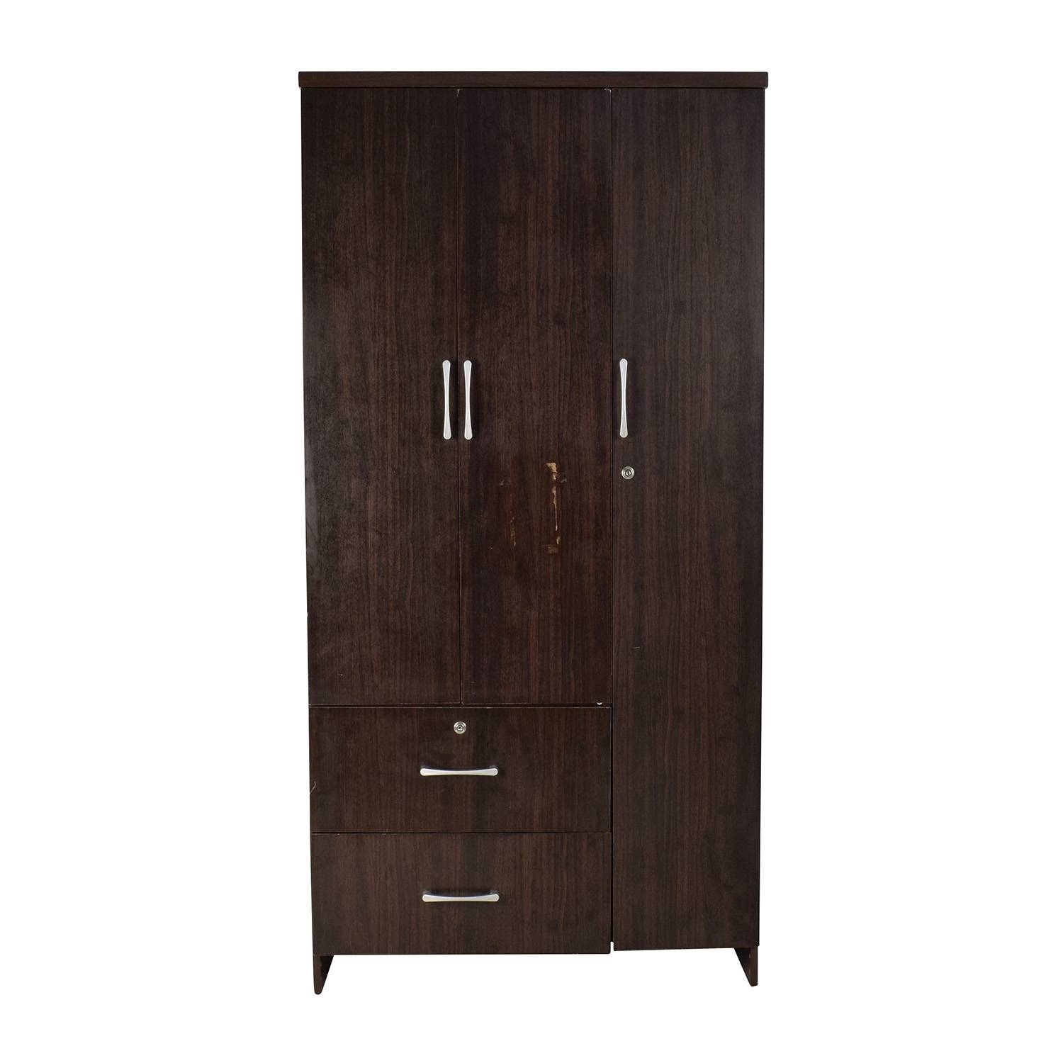 Wardrobes & Armoires: Used Wardrobes & Armoires For Sale regarding Dark Wood Wardrobe Cheap (Image 28 of 30)
