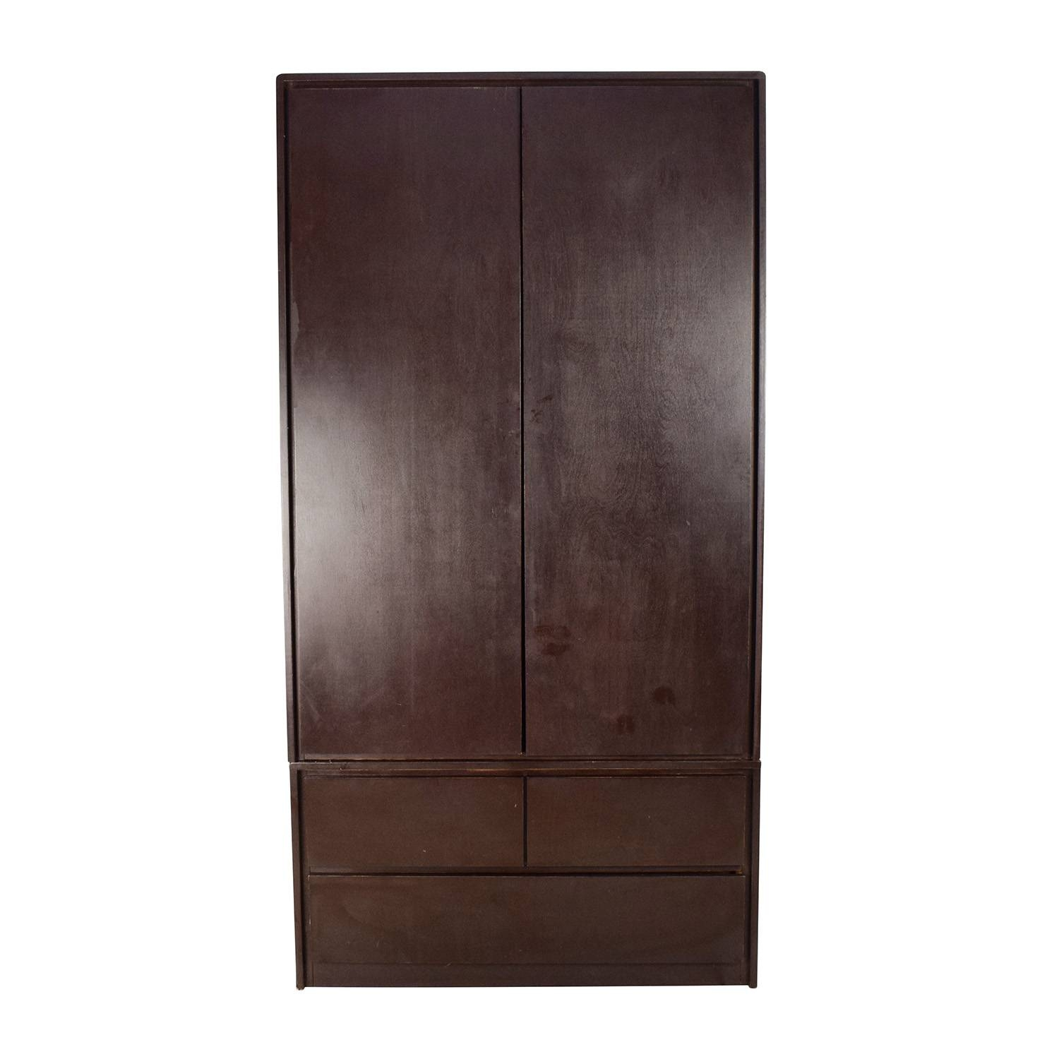 Wardrobes & Armoires: Used Wardrobes & Armoires For Sale within Solid Dark Wood Wardrobes (Image 28 of 30)