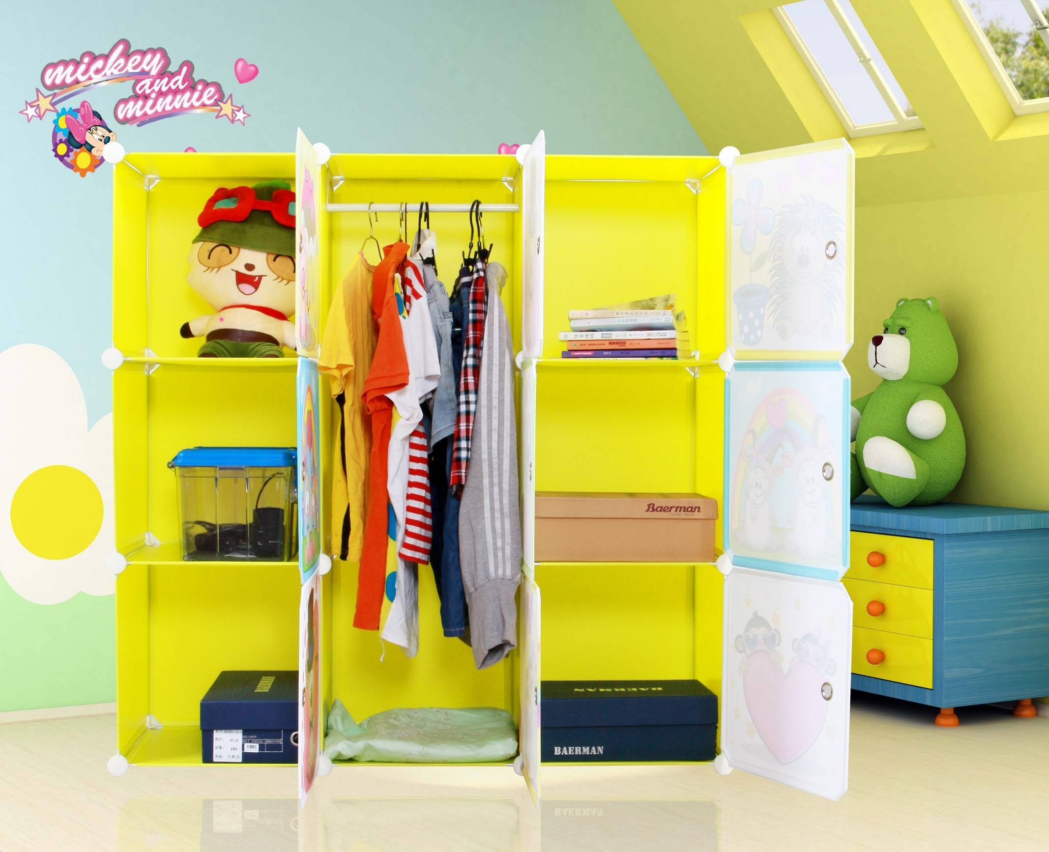 Wardrobes Furniture Land Direct Kids Wardrobe Childrens Storage in Kids Wardrobes (Image 14 of 15)