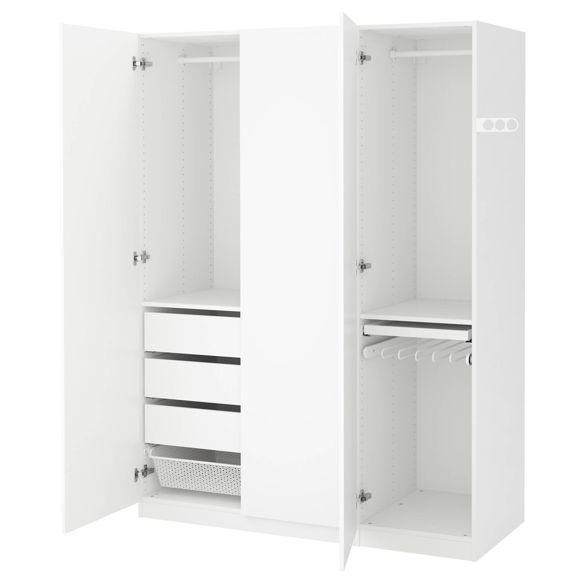 Wardrobes | Ikea with Double Rail White Wardrobes (Image 17 of 21)