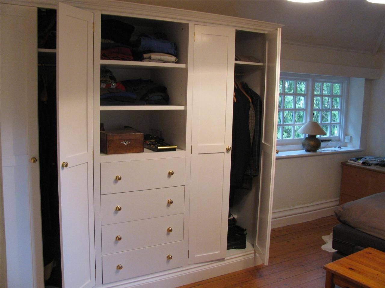 Wardrobes in Double Wardrobe With Drawers And Shelves (Image 28 of 30)