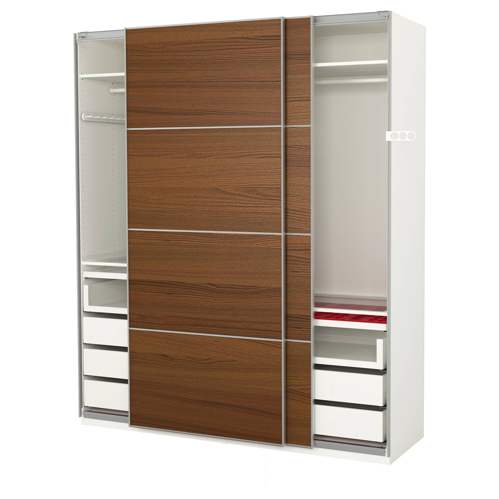 Wardrobes - Pax System - Ikea in 3 Door Wardrobe With Drawers and Shelves (Image 24 of 30)