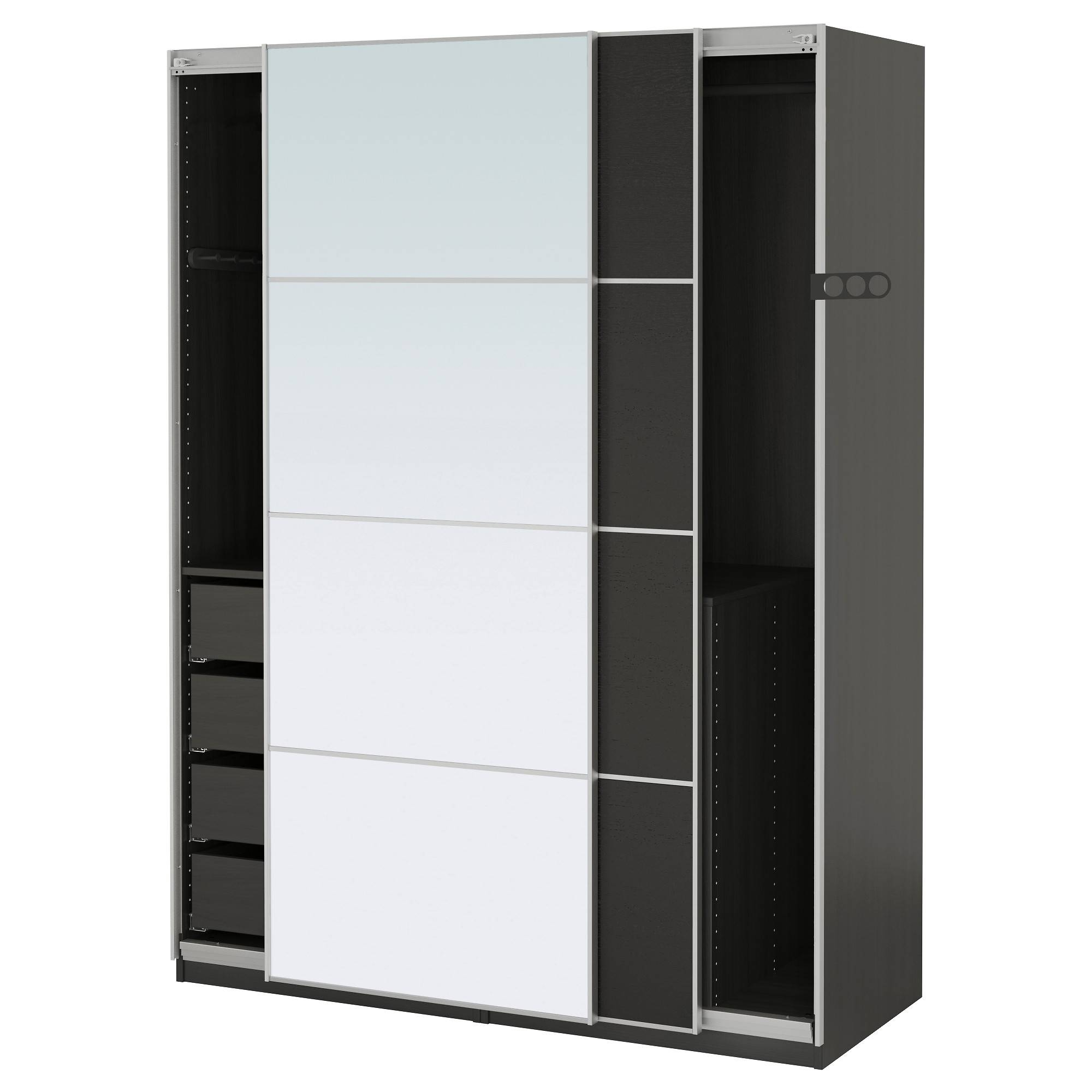 Wardrobes - Pax System - Ikea in Double Wardrobe With Drawers and Shelves (Image 25 of 30)