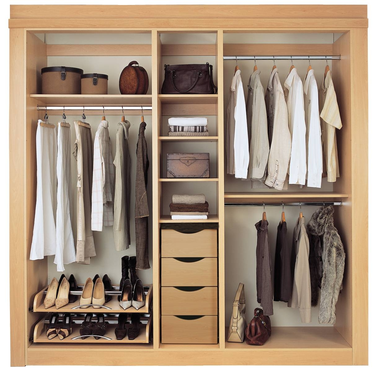Wardrobes : Stunning Wardrobes Interiors With Organized Storage regarding Drawers And Shelves For Wardrobes (Image 26 of 30)