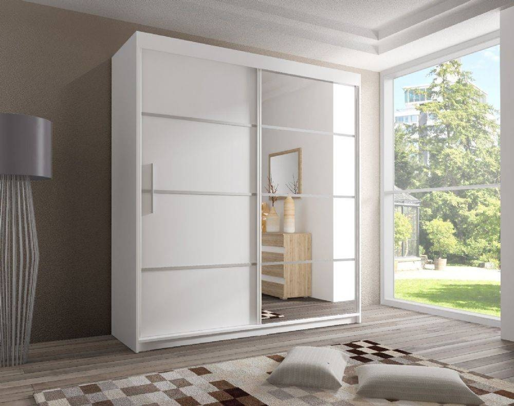 Wardrobes With Mirrored Sliding Doors Uk Mirrored Door Wardrobe inside White Gloss Mirrored Wardrobes (Image 15 of 15)