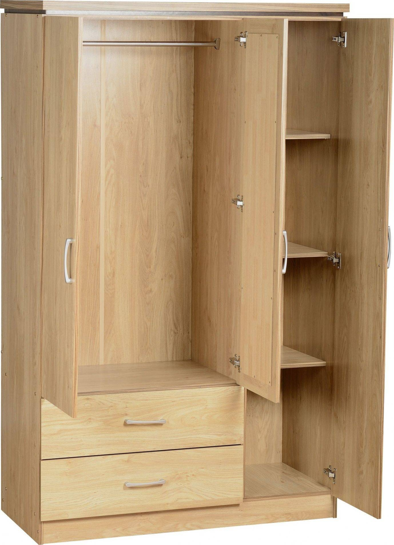 Wardrobes With Shelves, Ca Baumhaus Amelie Oak Childrens Kids Throughout Wardrobe With Drawers And Shelves (View 9 of 30)