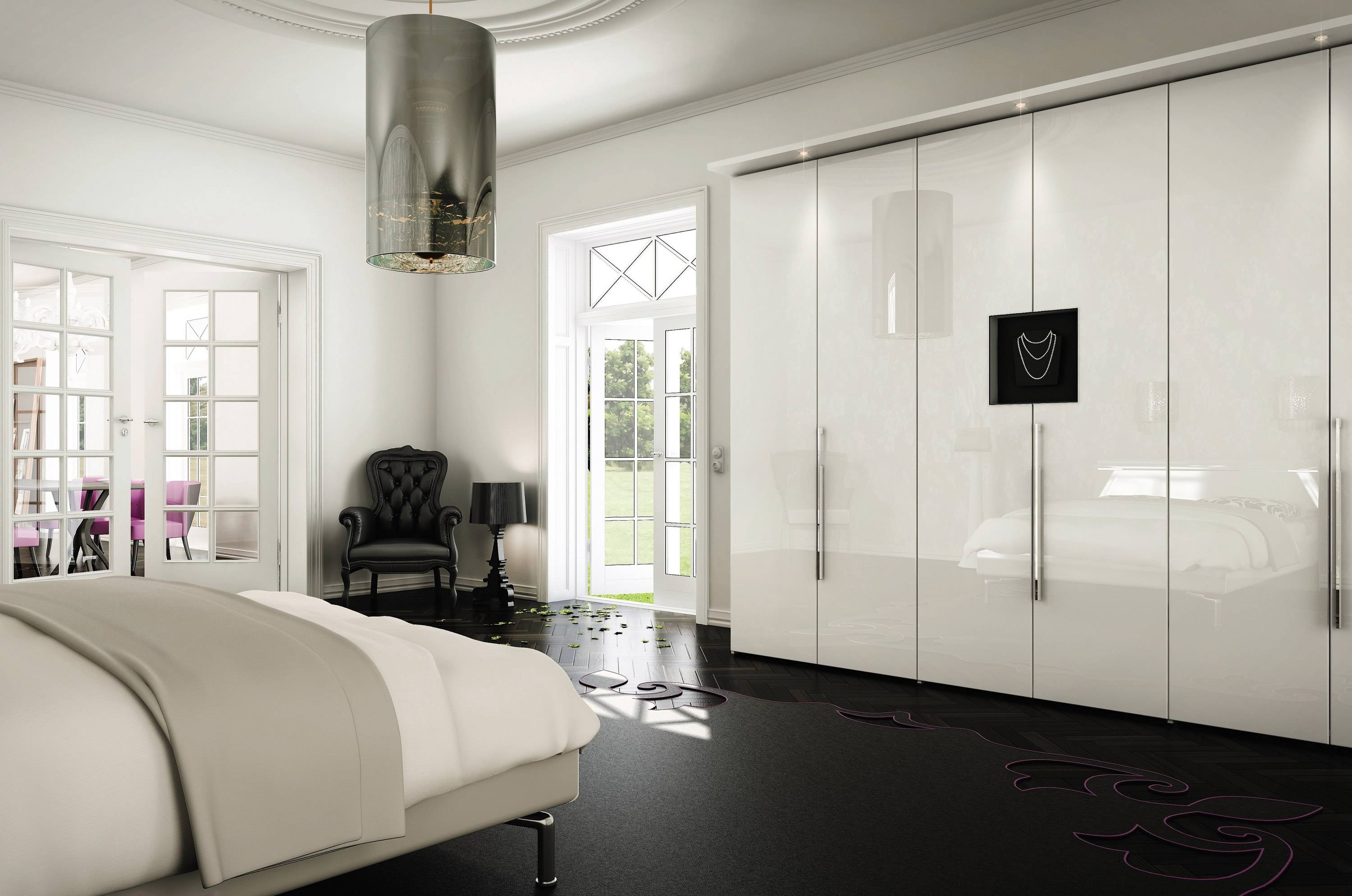 Wardrobes With Sliding Doors Black Bedroom Furniture Ideas with Black And White Wardrobes Set (Image 14 of 15)