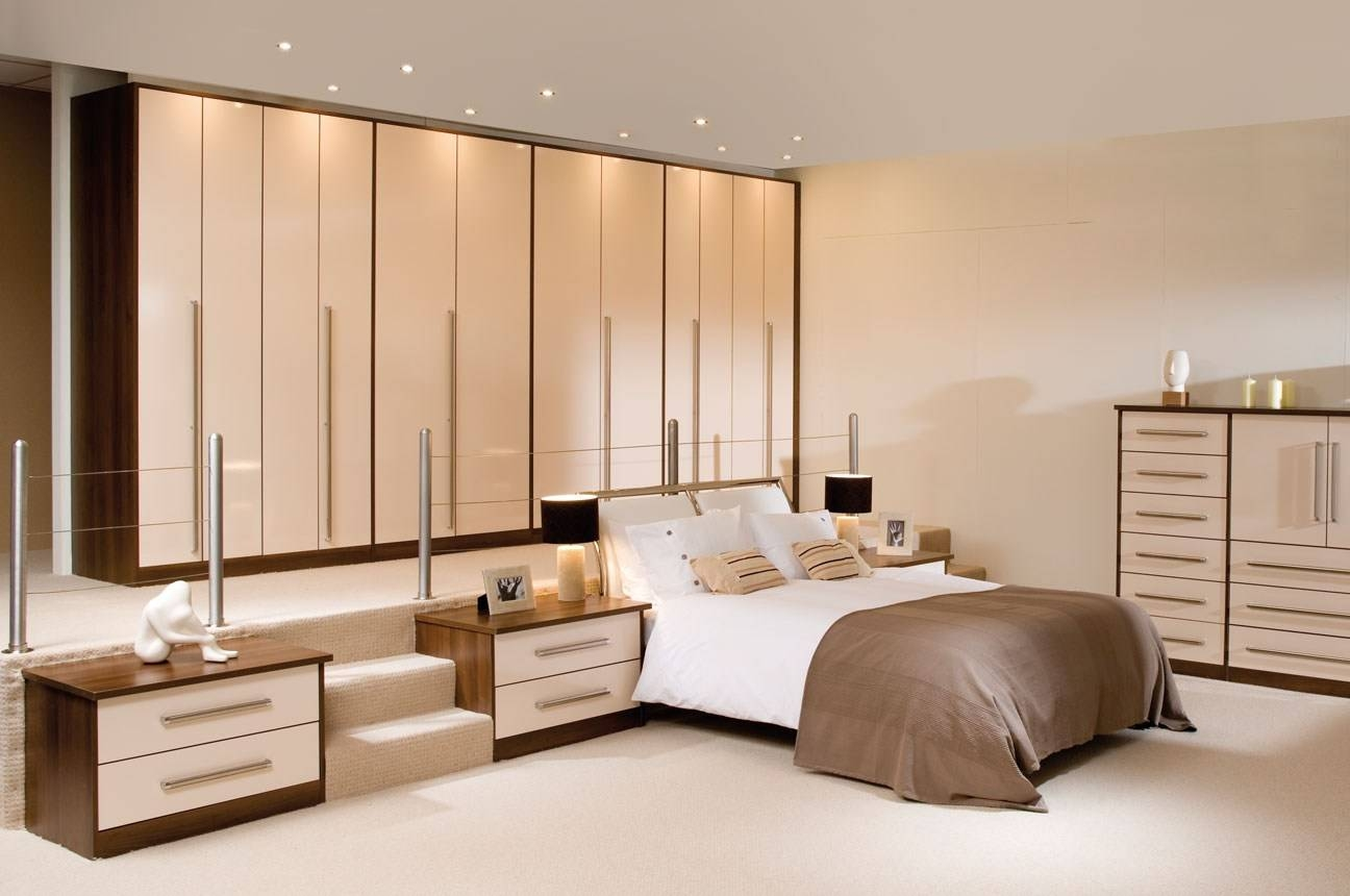 Wardrobes With Sliding Doors Black Bedroom Furniture Ideas Within Cream Gloss Wardrobes Doors (View 15 of 15)