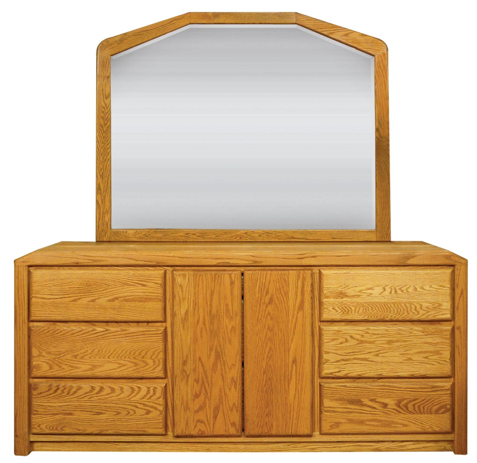 Waterbed Marathon Oak Large Dresser With Landscape Mirror regarding Large Landscape Mirrors (Image 25 of 25)