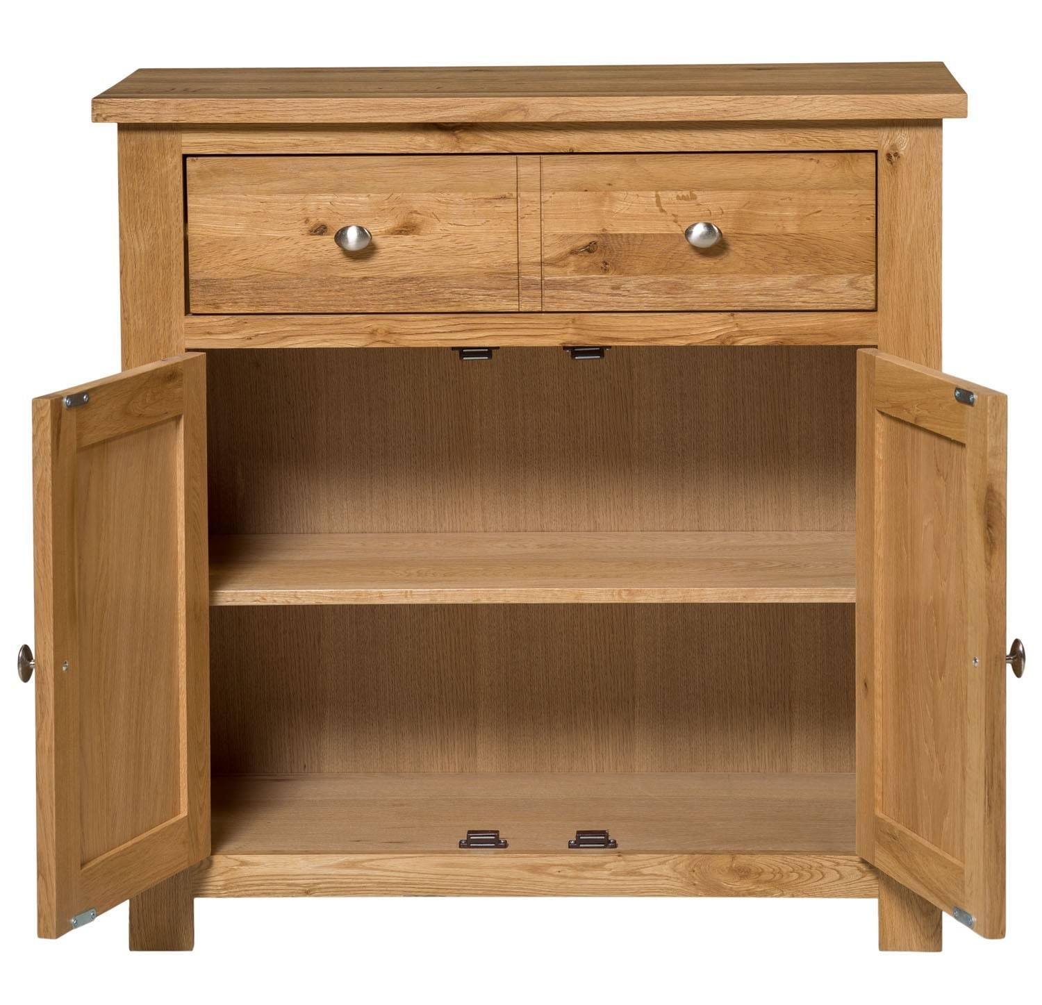 Waverly Oak Compact Sideboard 2 Doors 1 Drawer | Hallowood within Light Oak Sideboards (Image 30 of 30)