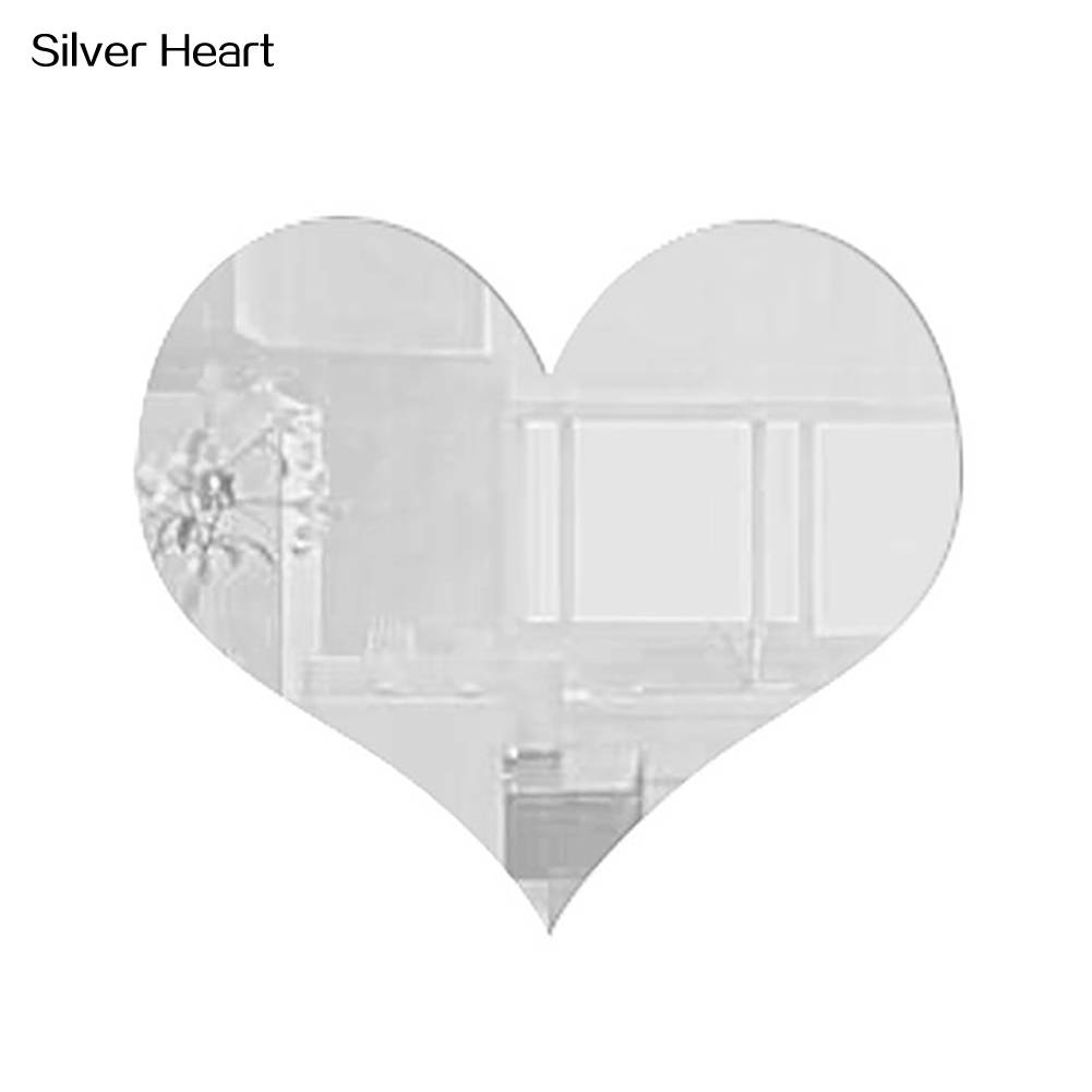 Wedding English Love Letters Home Decor 3D Mirror Wall Stickers For Heart Wall Mirrors (View 25 of 25)