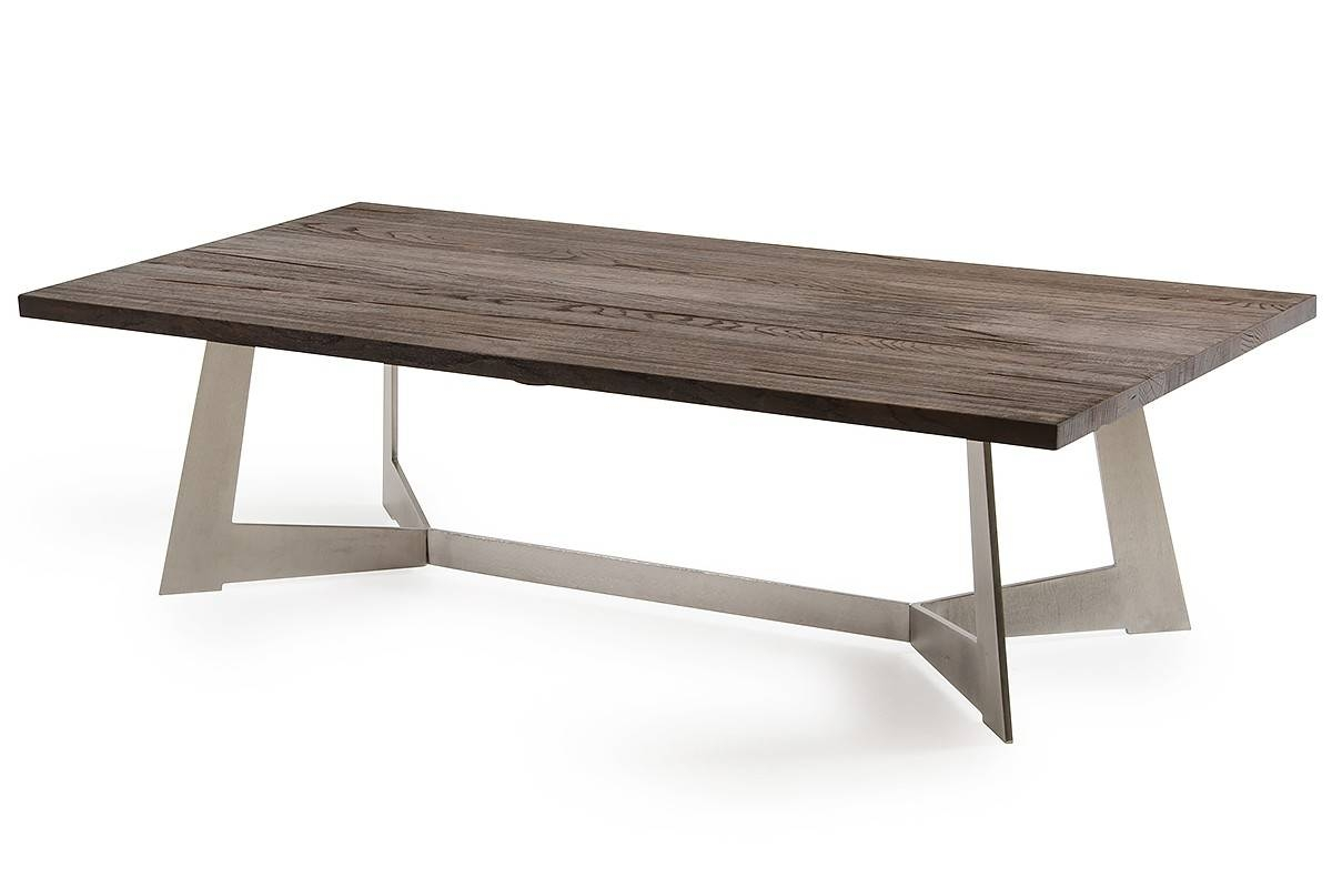 Wharton Modern Dark Aged Oak Coffee Table within Dark Coffee Tables (Image 30 of 30)