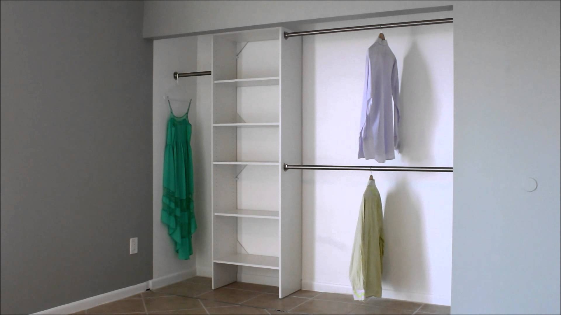 What Is The Standard Double Closet Rod Height? - Youtube within Double Hanging Rail Wardrobes (Image 30 of 30)