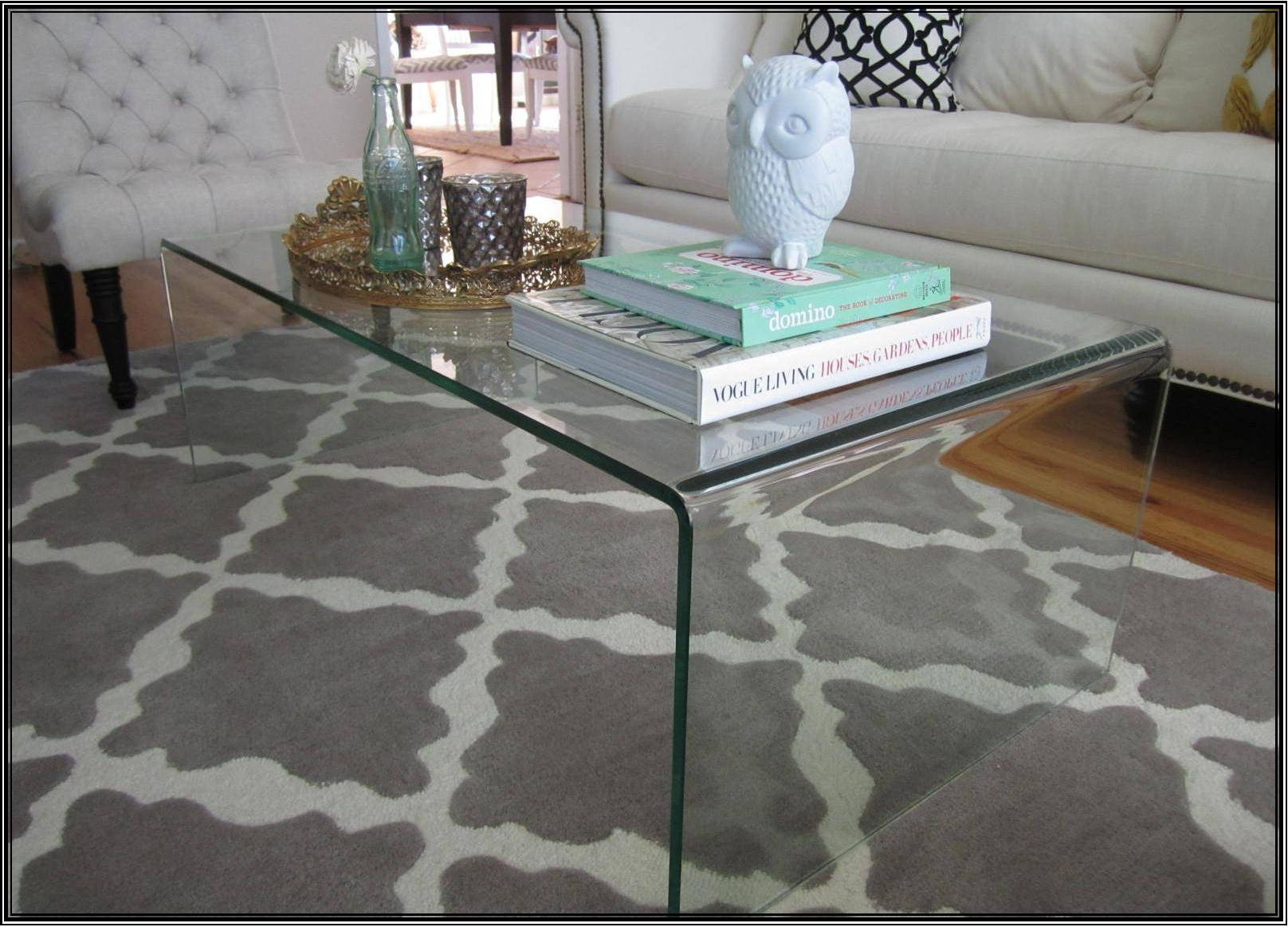 What To Put On A Glass Coffee Table throughout All Glass Coffee Tables (Image 29 of 30)