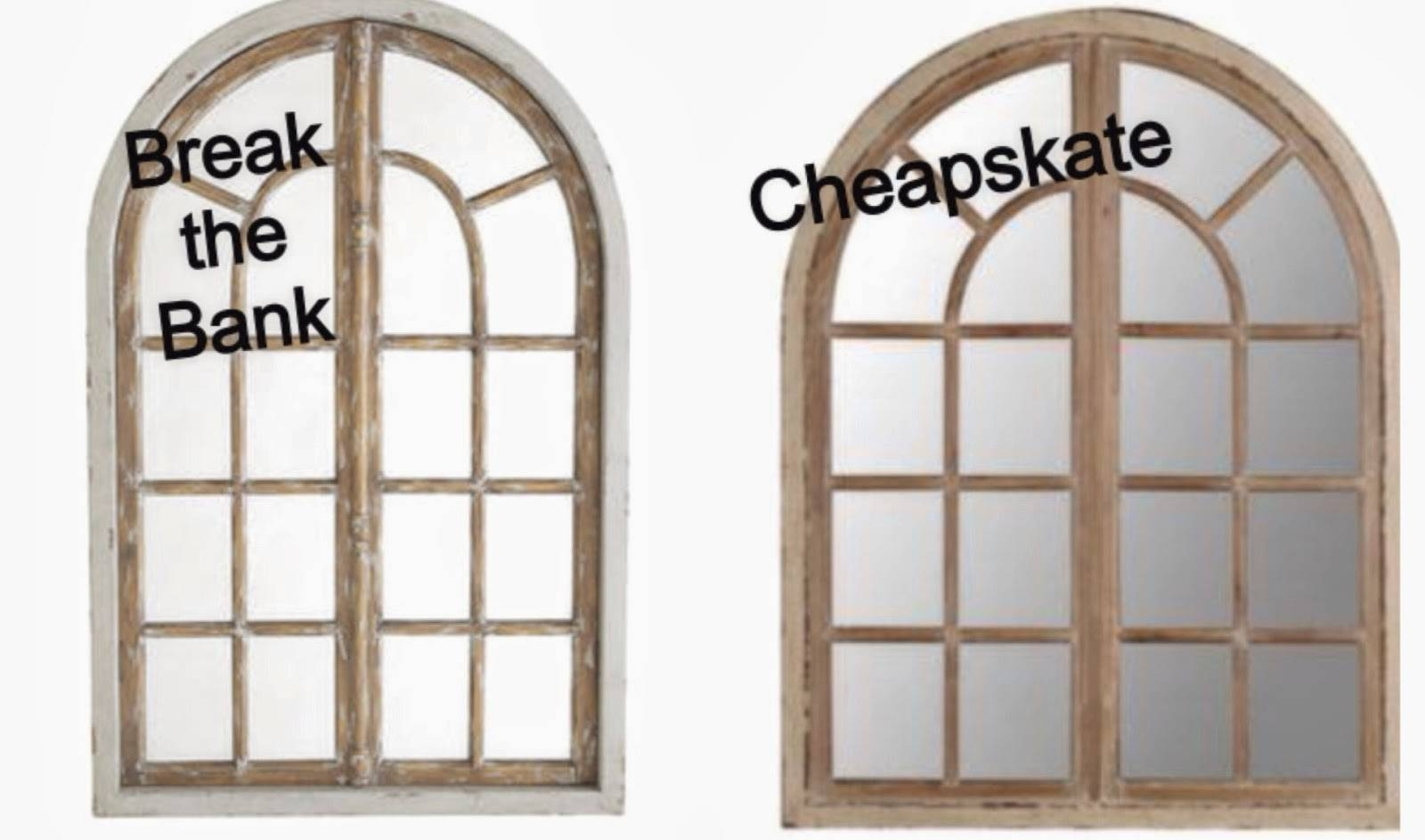 Whimsy Girl: Break The Bank Vs. Cheapskate {Arch Window Frame Mirror} pertaining to Arched Mirrors (Image 25 of 25)
