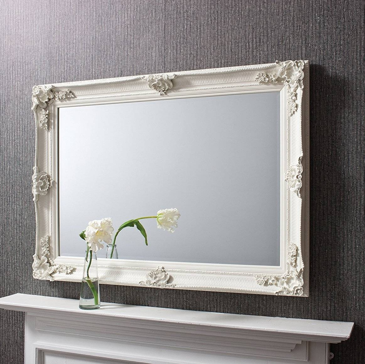 White And Cream Mirrors | Exclusive Mirrors intended for Cream Ornate Mirrors (Image 25 of 25)