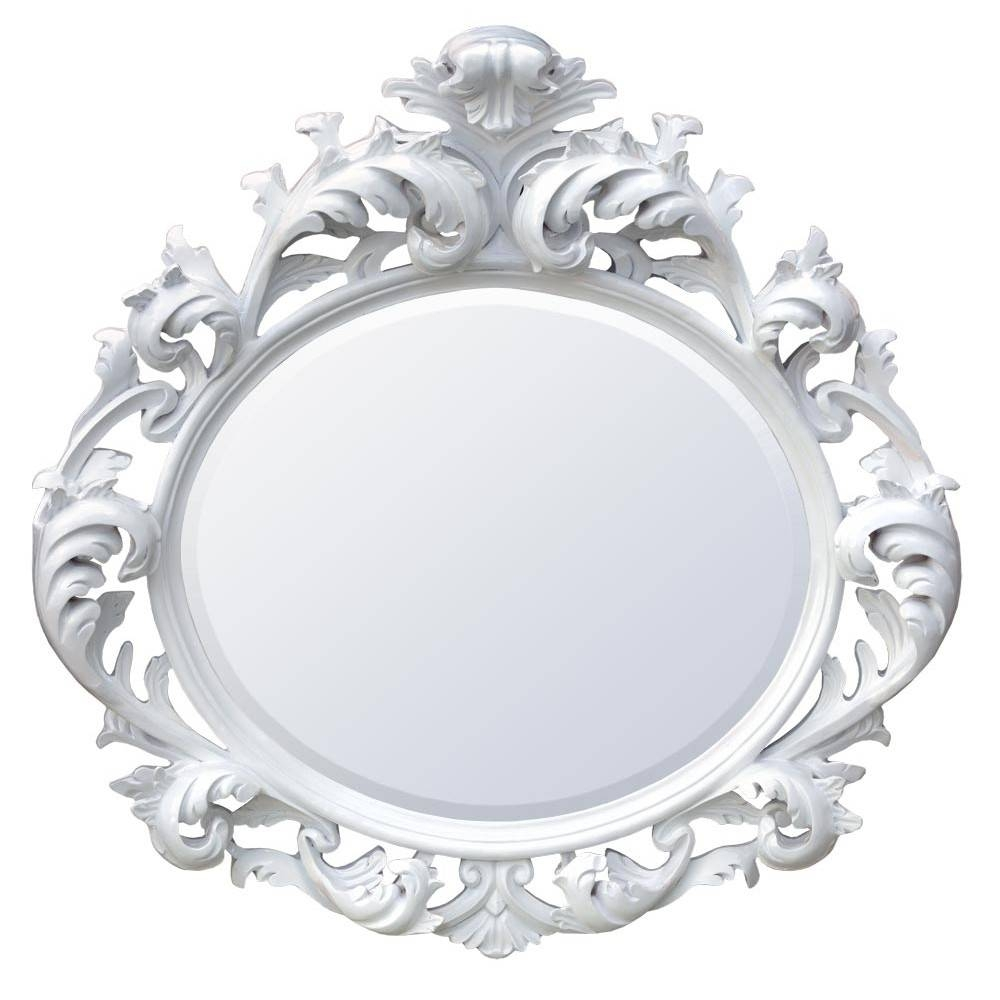 White And Cream Mirrors throughout White Baroque Mirrors (Image 20 of 25)