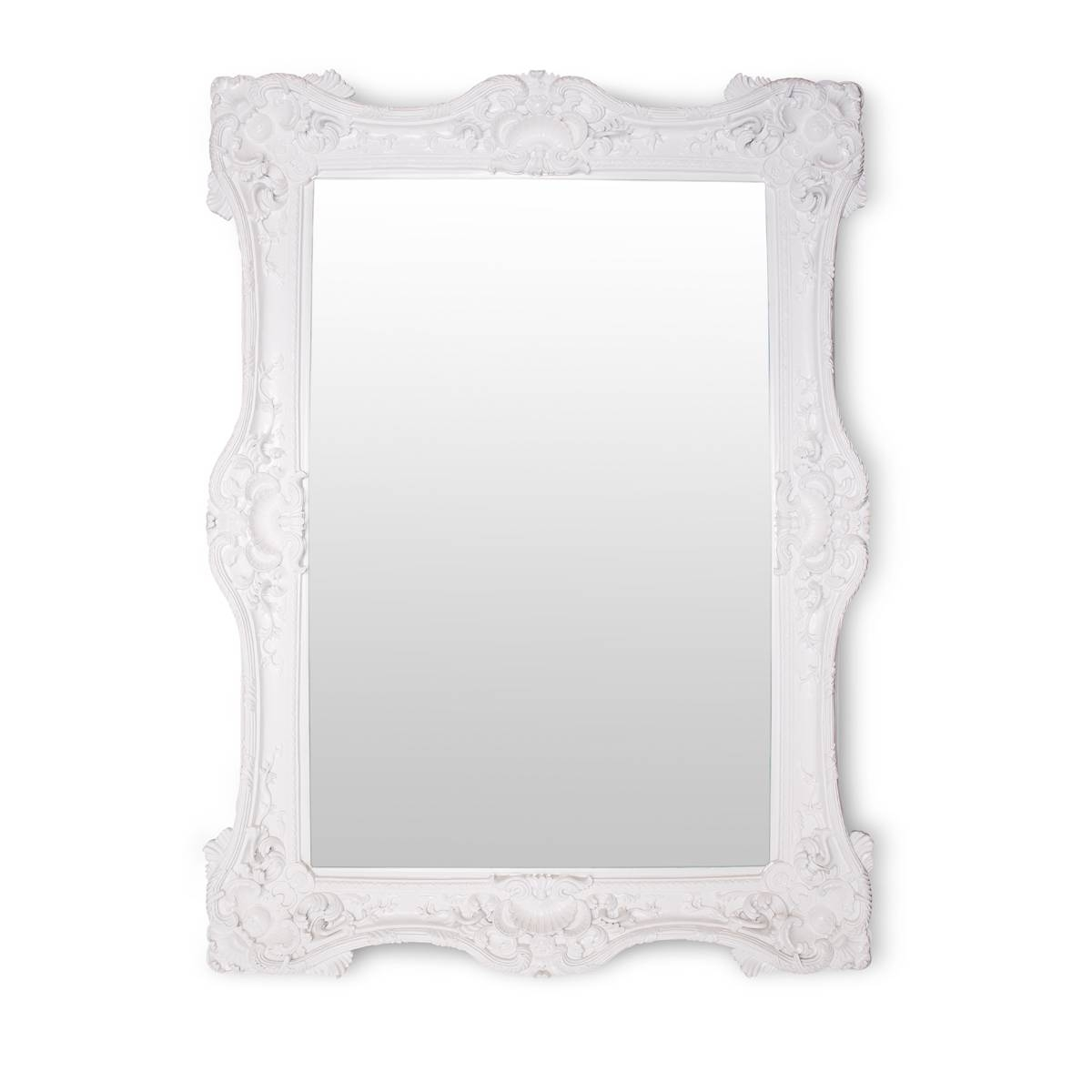 White Baroque Mirror – Glam Party Rentals intended for White Baroque Mirrors (Image 23 of 25)
