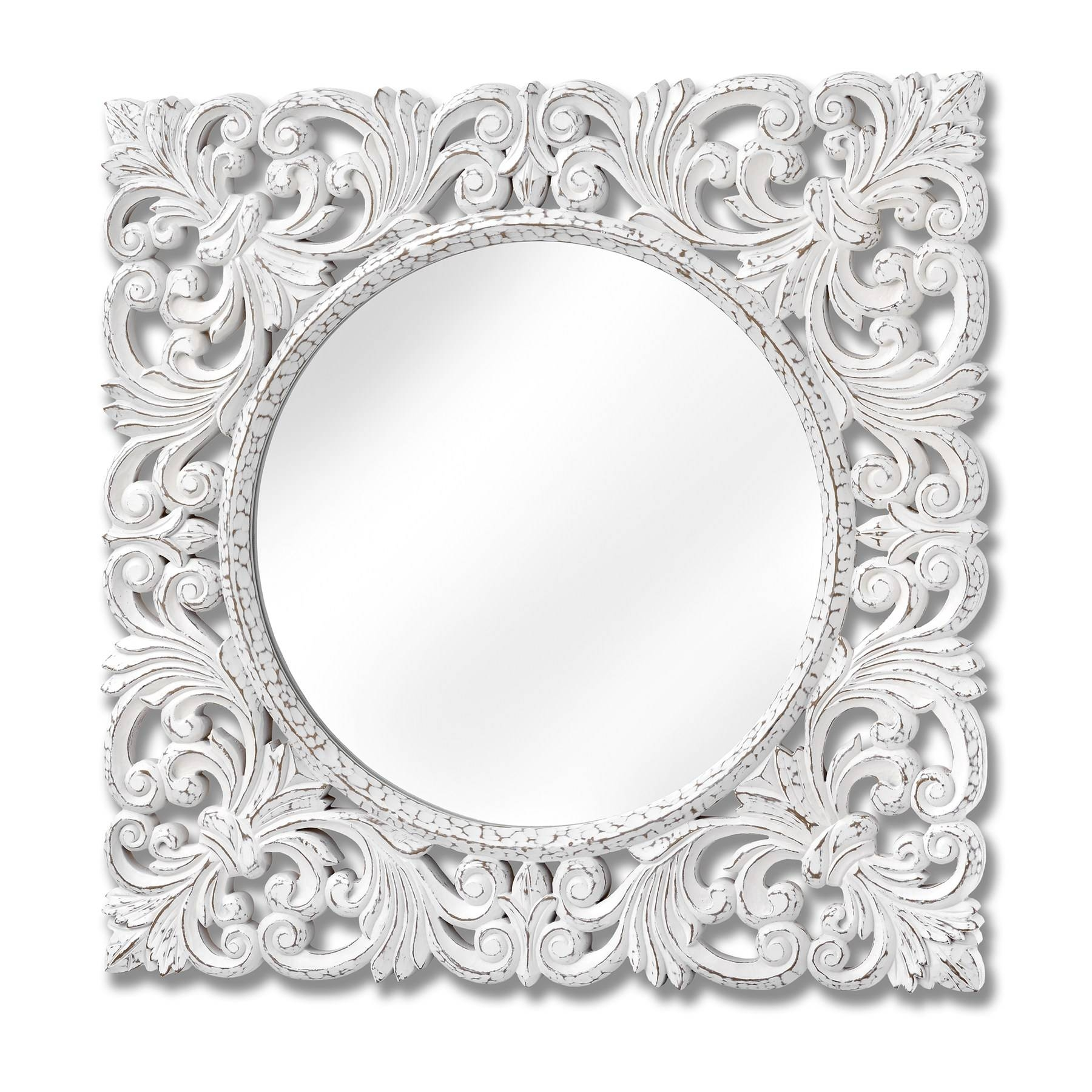 White Baroque Mirror ~ Peeinn within Baroque Style Mirrors (Image 25 of 25)