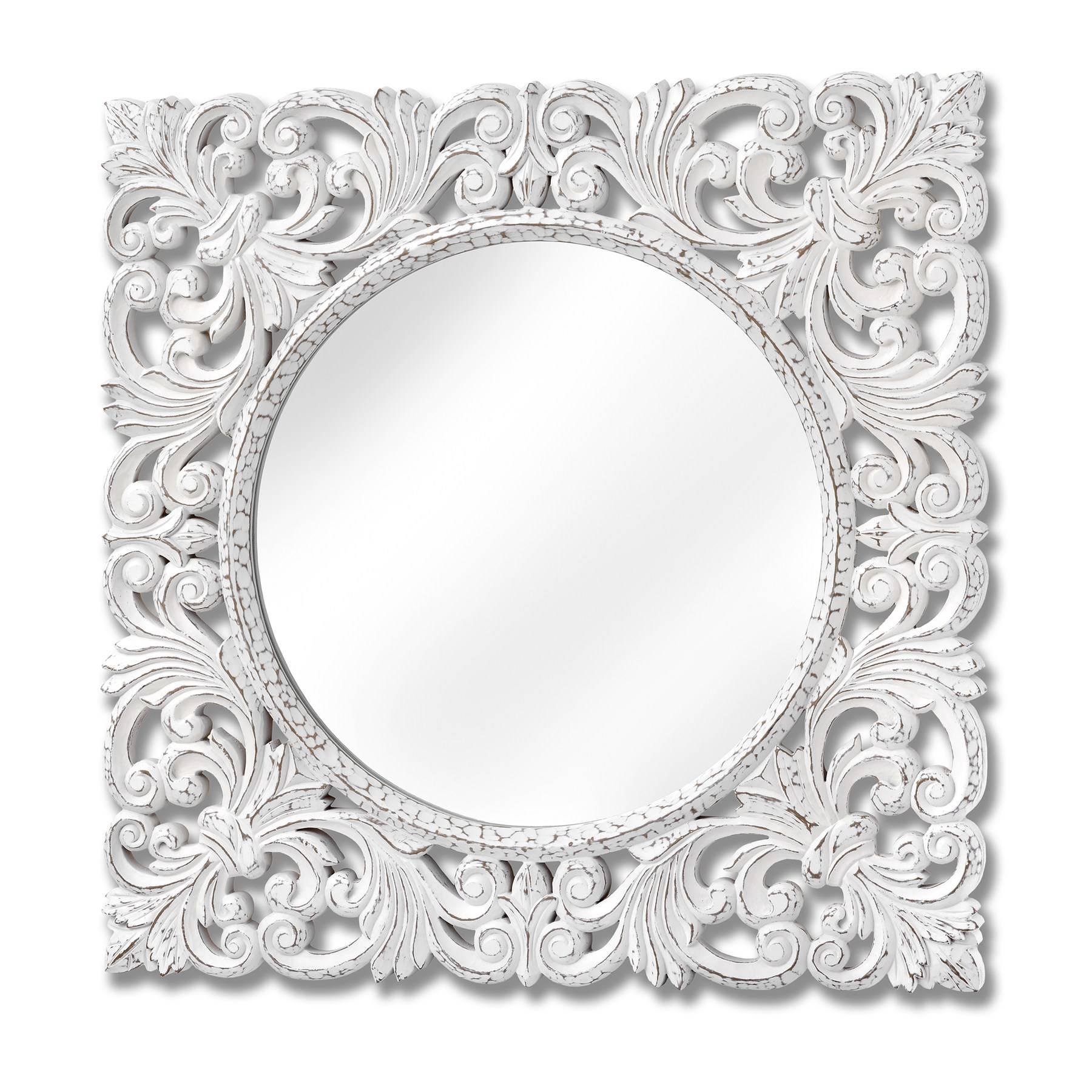 White Baroque Mirror ~ Peeinn Within Baroque Style Mirrors (View 25 of 25)