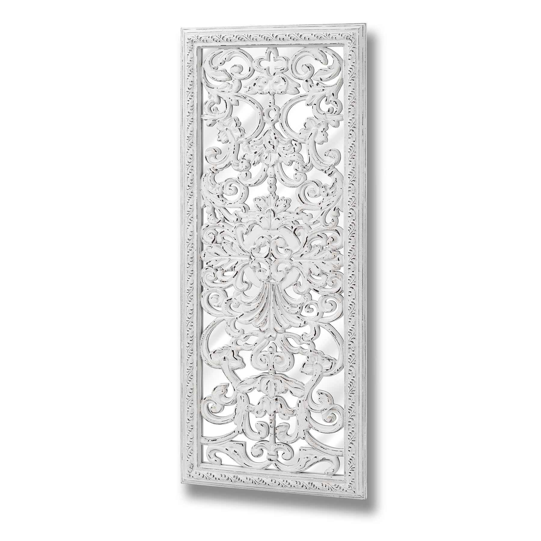 White Baroque Mirror With Ornate Front Detail in White Baroque Mirrors (Image 22 of 25)