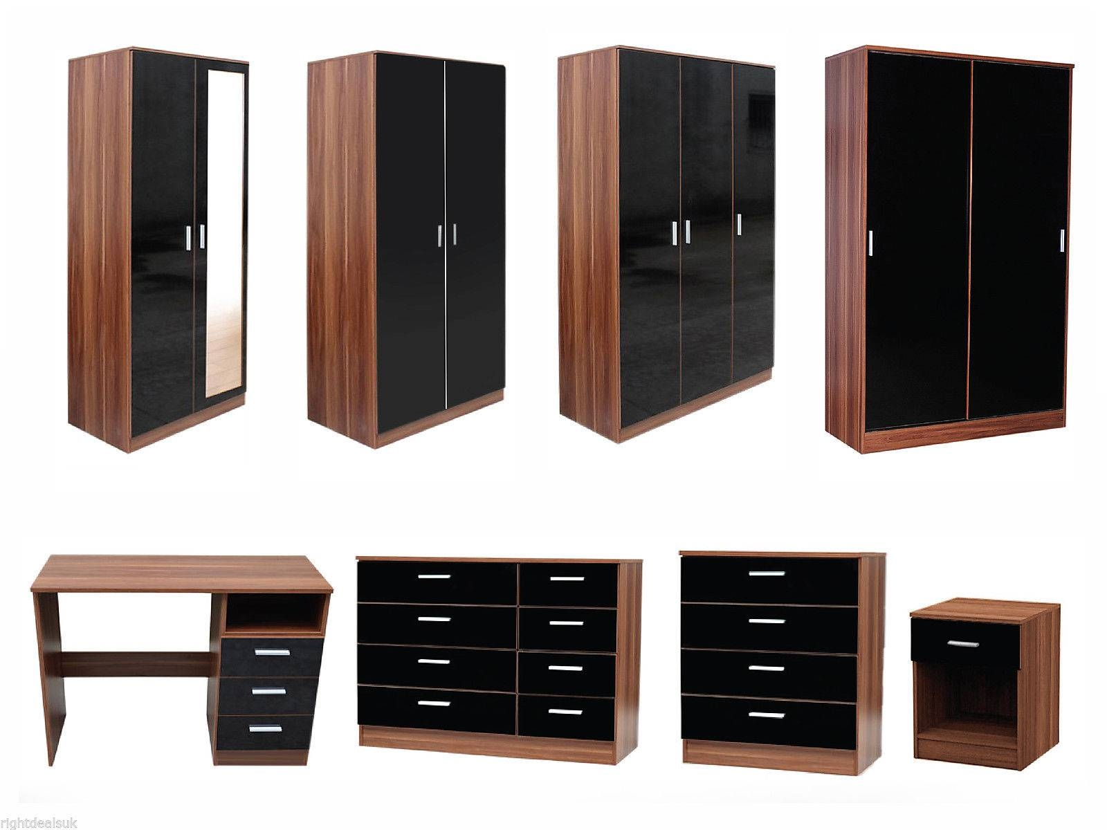 White Bedroom Furniture Sets Modern Dressing Table High Gloss Home regarding Gloss Black Wardrobes (Image 15 of 15)