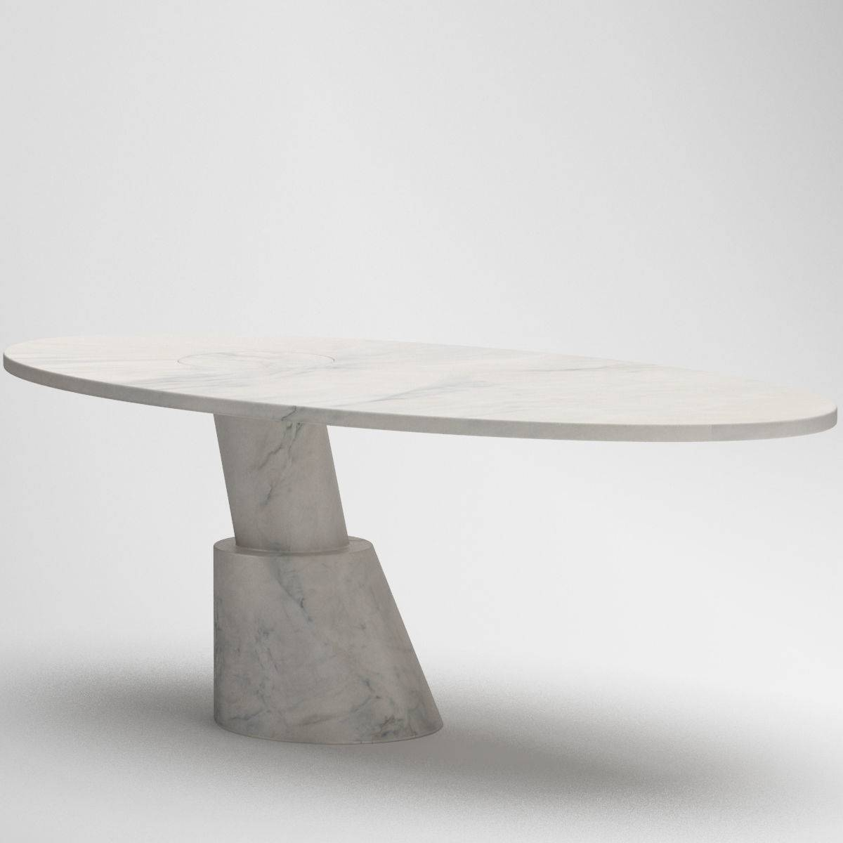White Circle Coffee Table 3D Model Max Obj Fbx Mtl within Circle Coffee Tables (Image 29 of 30)