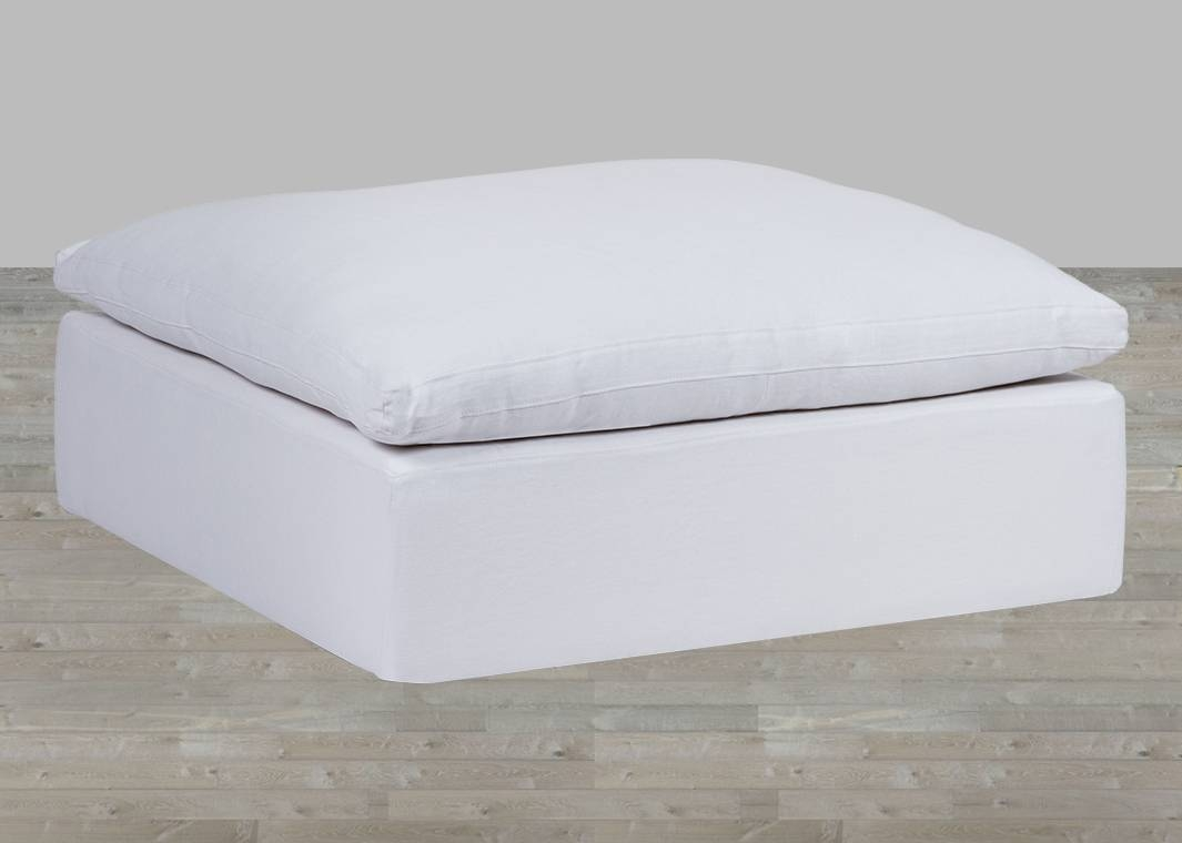 White Cloud Modular Preconfigured Fabric Sofa with White Fabric Sofas (Image 28 of 30)