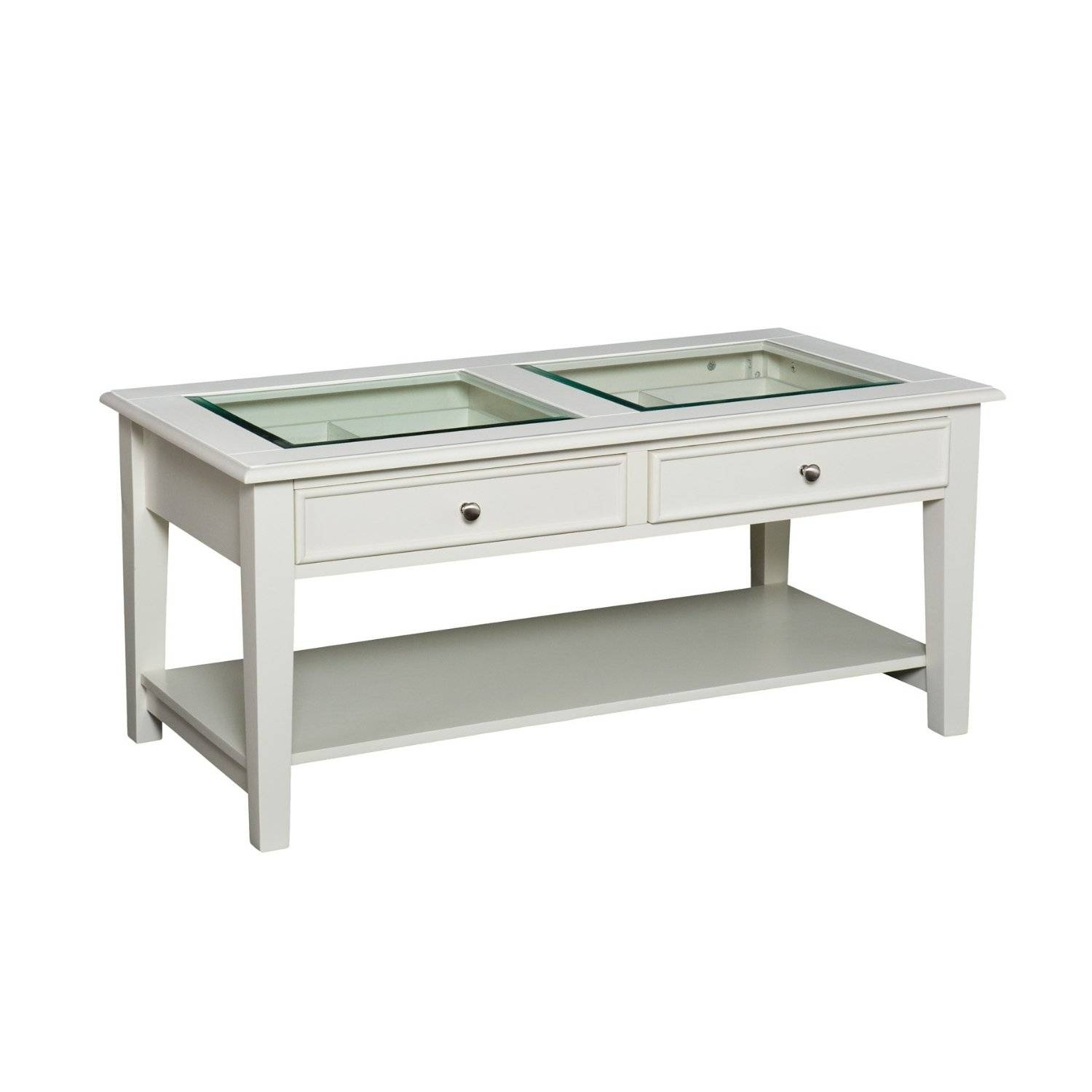 White Coffee Table With Dark Wood Top Coffee Addicts – Jericho With White Coffee Tables With Storage (View 16 of 30)