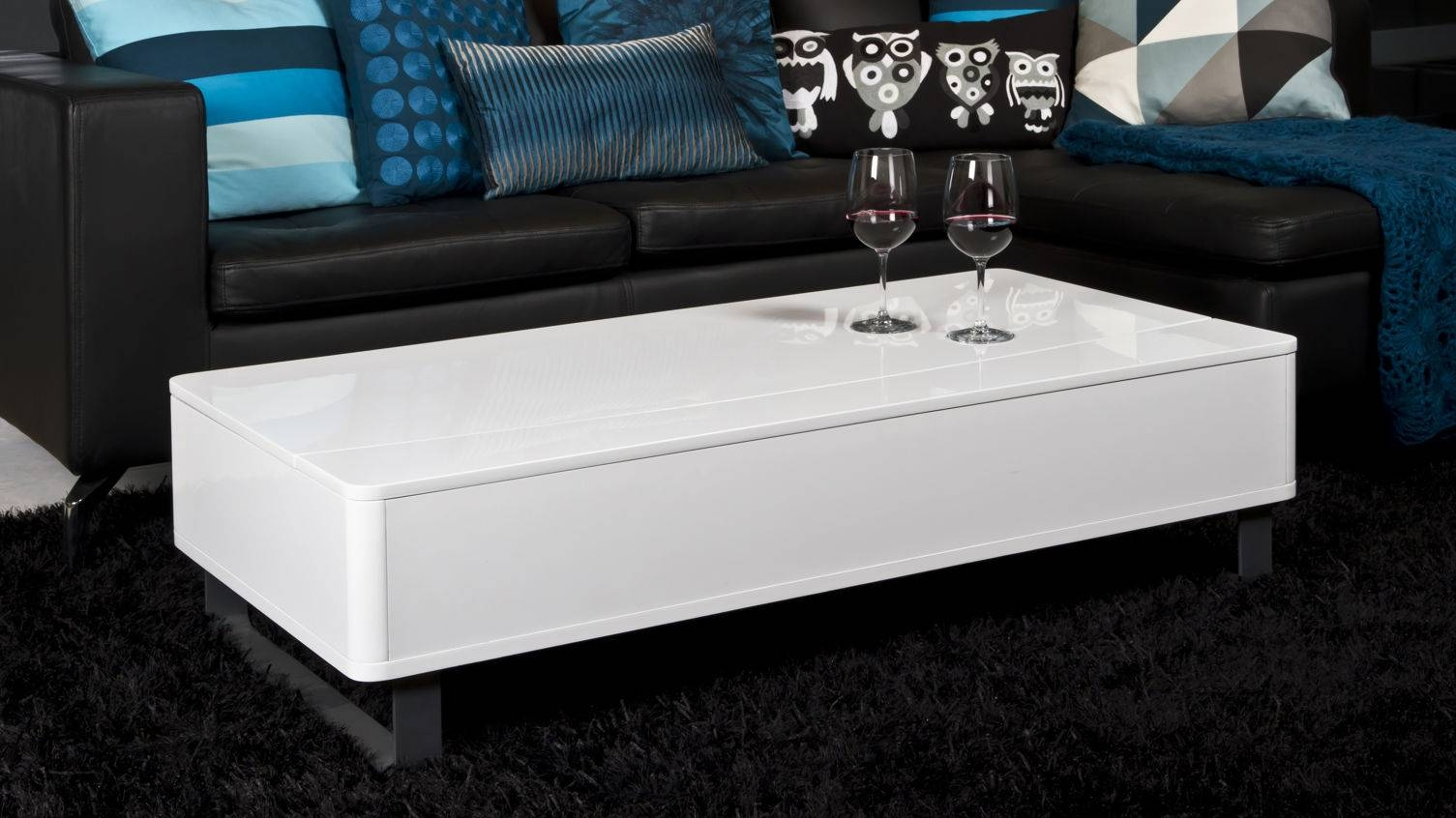 White Coffee Table With Storage Beautiful Round Coffee Table On for White Coffee Tables With Storage (Image 27 of 30)