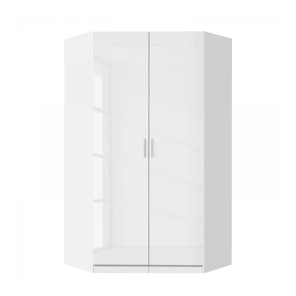 White Corner Wardrobes, German Quality Bedroom Furniture intended for High Gloss White Wardrobes (Image 13 of 15)