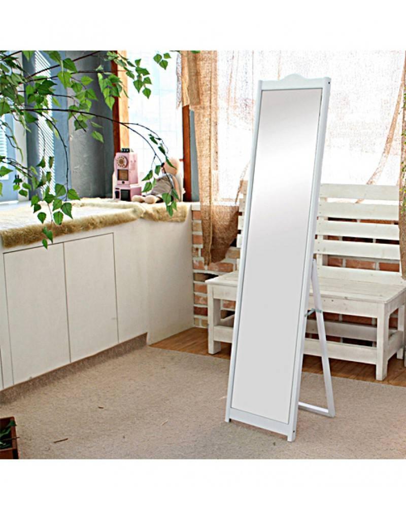 White - Elegant Freestanding Dressing Mirror for Free Standing Dressing Mirrors (Image 24 of 25)