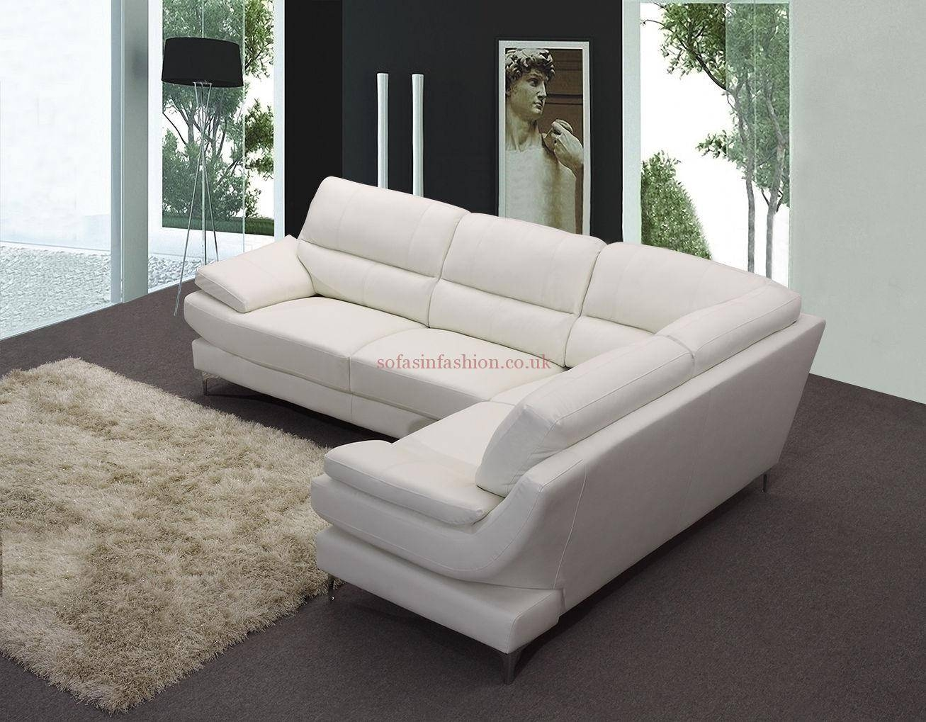 White Faux Leather Corner Sofa | Tehranmix Decoration pertaining to White Leather Corner Sofa (Image 27 of 30)