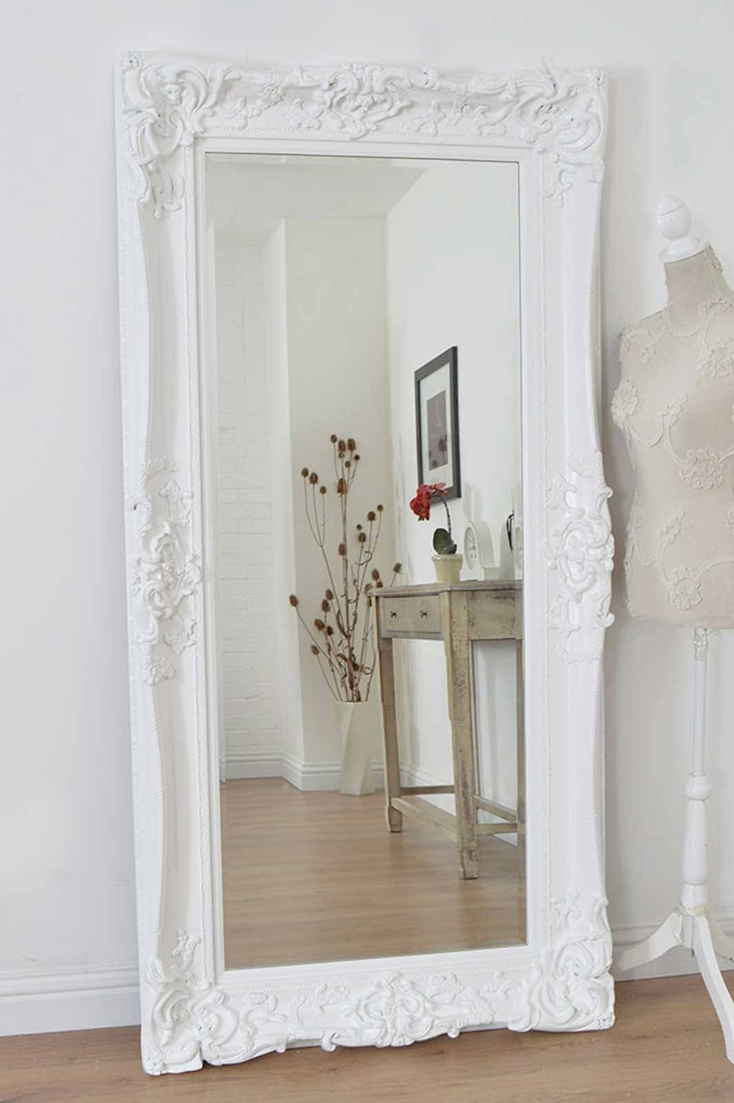 White Floor Length Mirror – Harpsounds.co inside Ornate Full Length Mirrors (Image 25 of 25)