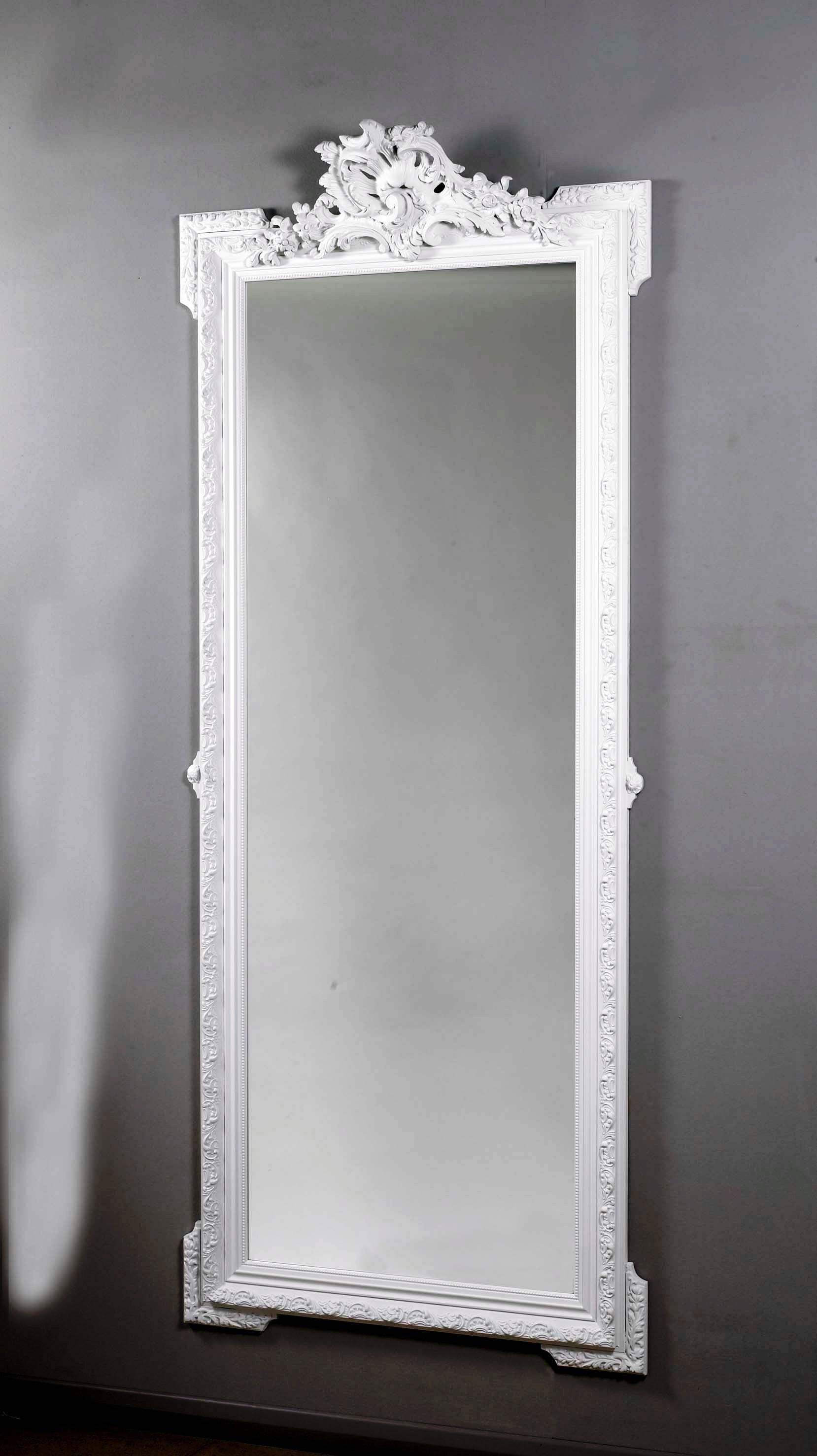 White Full Length Wall Mirror 144 Unique Decoration And Full intended for Decorative Full Length Mirrors (Image 25 of 25)