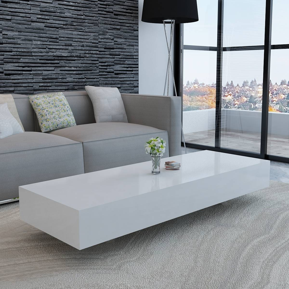 White Gloss Coffee Table Ikea To Decorate A Living Room intended for White Gloss Coffee Tables (Image 26 of 30)