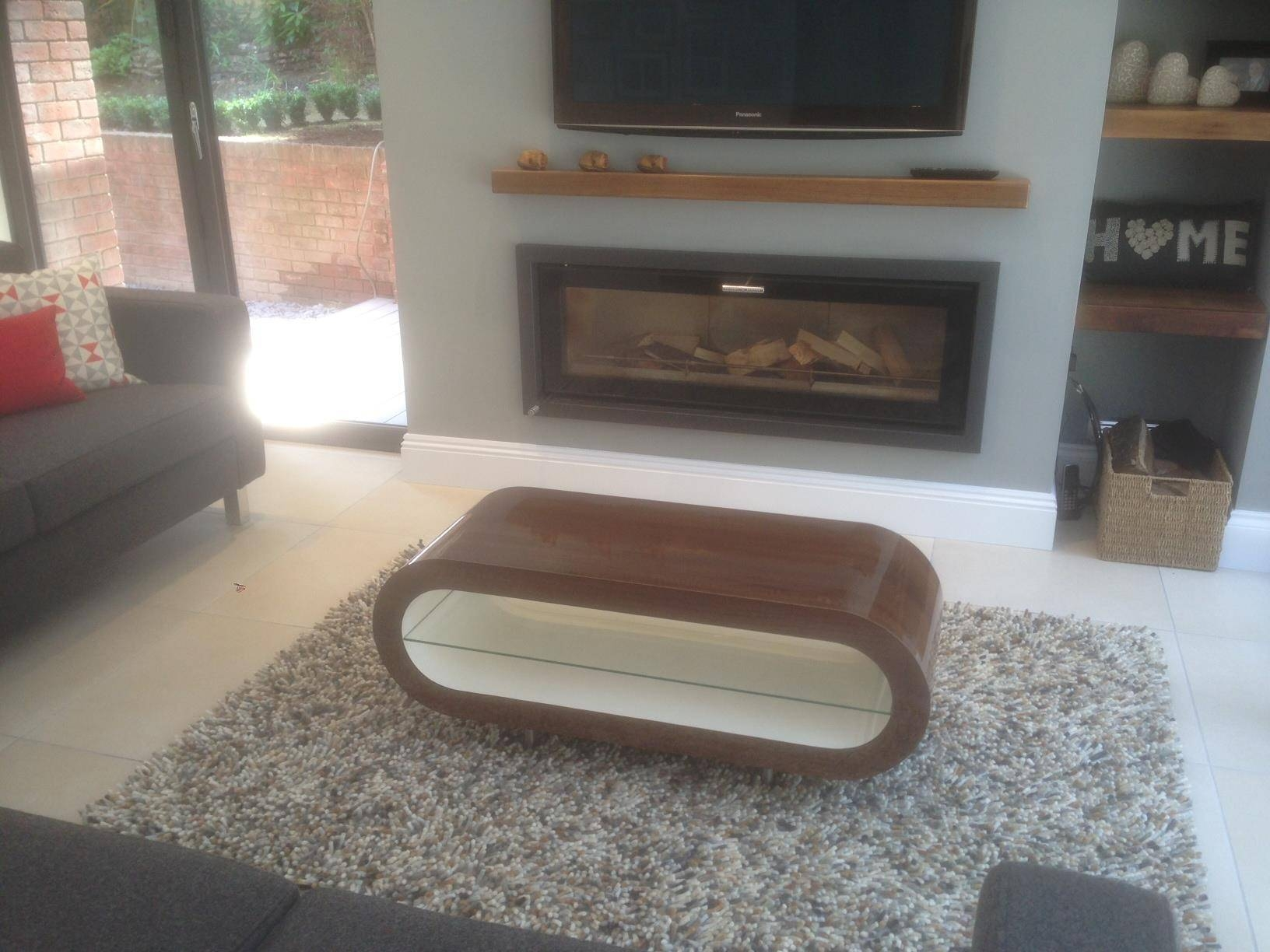 White Gloss Coffee Table – Large Hoop – Free Uk Delivery – Zespoke Inside White Gloss Coffee Tables (View 25 of 30)