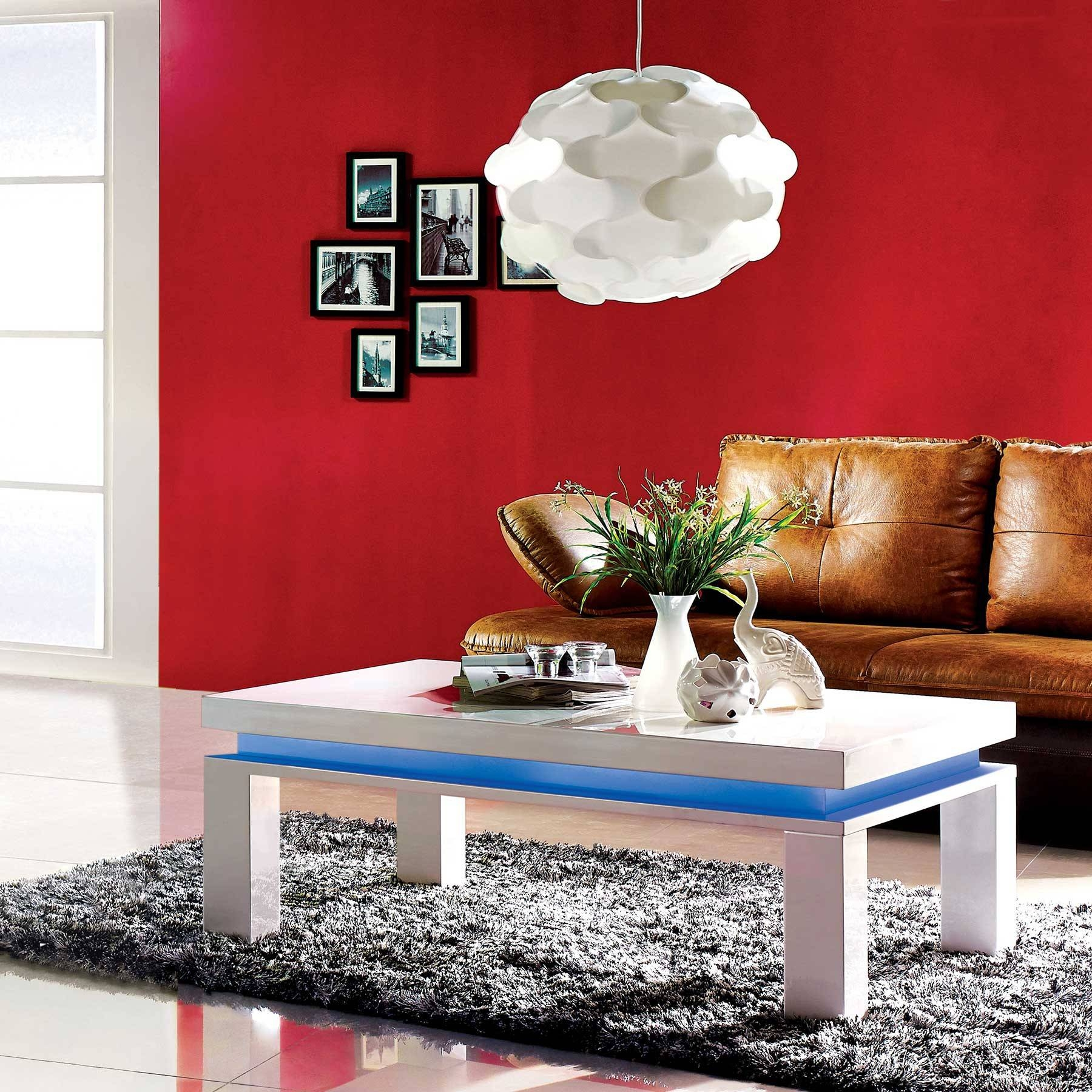 White Gloss Coffee Table Led Light | Au2293E| intended for Red Gloss Coffee Tables (Image 29 of 30)