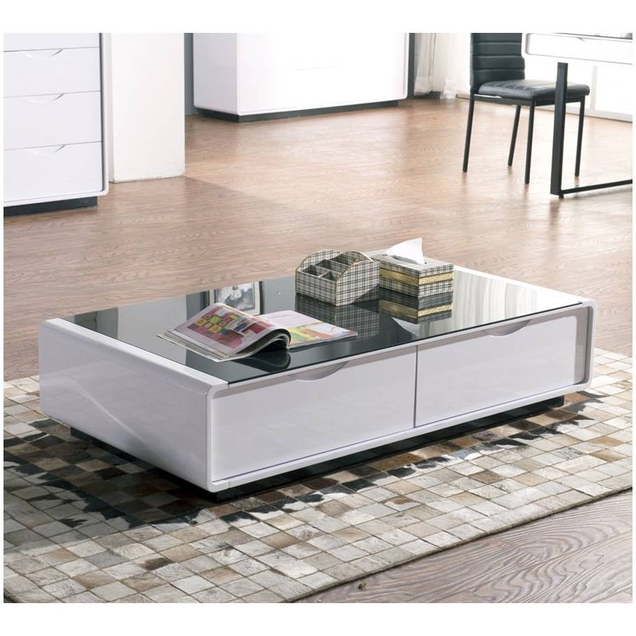 White Gloss Glass Coffee Table – Cocinacentral (View 28 of 30)