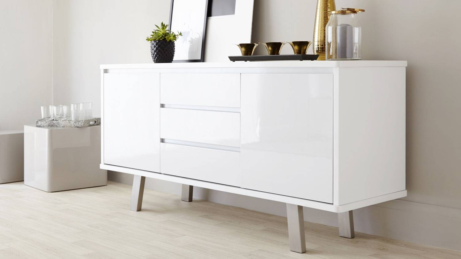 White Gloss Sideboards For Dining Room - Decor within Gloss White Sideboards (Image 30 of 30)