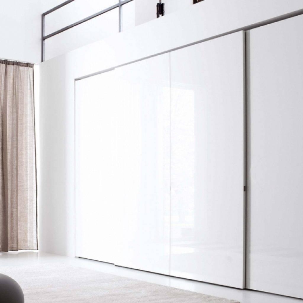 White Gloss Sliding Wardrobe Doors Jesse Plane Sliding Door regarding White Gloss Sliding Wardrobes (Image 15 of 15)