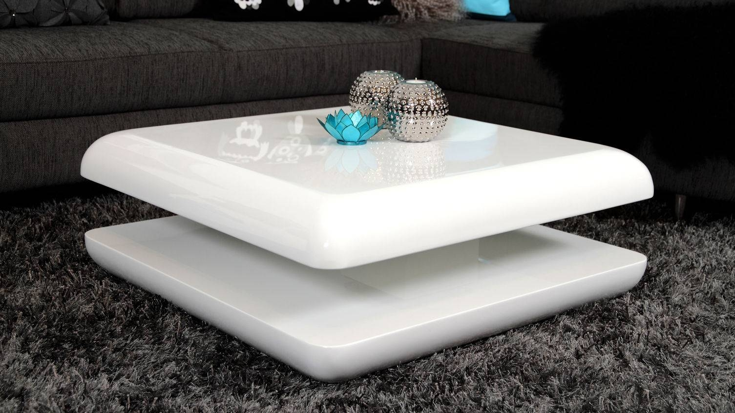 White High Gloss Coffee Table With Storage | Coffee Tables Decoration pertaining to White Gloss Coffee Tables (Image 29 of 30)