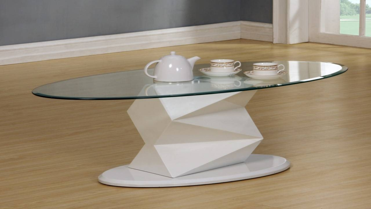 White High Gloss Glass Coffee, Side, Console Table - Homegenies intended for White And Glass Coffee Tables (Image 29 of 30)
