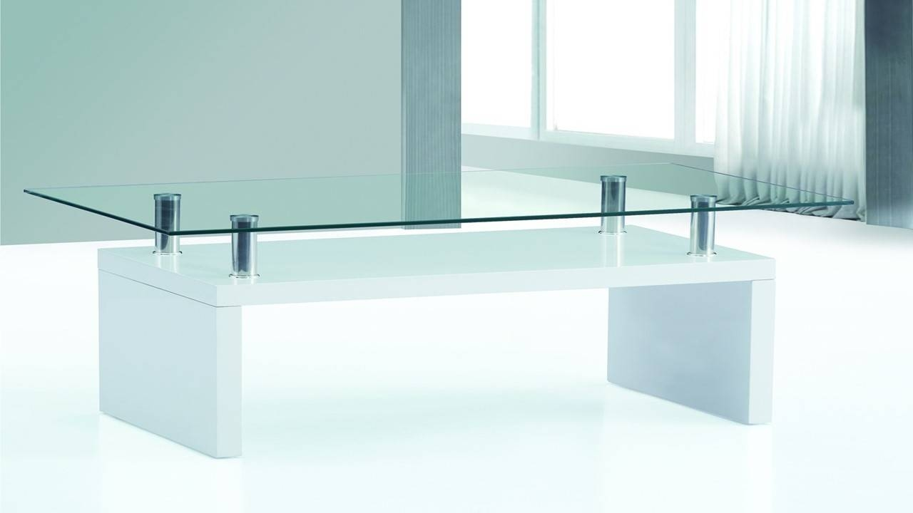 White High Gloss Glass Top Coffee Table Homegenies – Jericho Pertaining To Coffee Tables White High Gloss (View 29 of 30)