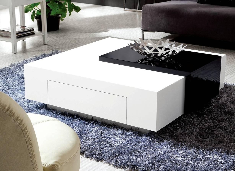 White High Gloss Low Coffee Table | Coffee Tables Decoration In Large Low  White Coffee Tables
